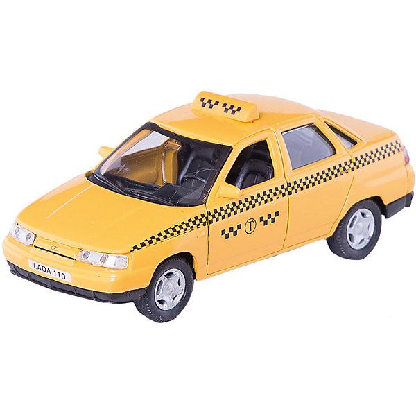 Машинка Lada 110 такси 1:36, AutotimeМашинки<br>Характеристики товара:<br><br>• цвет: желтый<br>• материал: металл, пластик<br>• размер: 16,5х7,х5,7 см<br>• вес: 100 г<br>• масштаб: 1:36<br>• прочный материал<br>• хорошая детализация<br>• открываются двери<br>• страна бренда: Россия<br>• страна производства: Китай<br><br>Коллекционная машинка LADA 110 такси от бренда AUTOTIME станет отличным подарком для мальчика. Подробная детализация машинки порадует увлеченного коллекционера, а открывающиеся двери и свободно вращающиеся колеса придутся по душе юному владельцу игрушечного гаража. Эта игрушка подарит восторг и радость вашему ребенку. <br><br>Игрушка также воздействует на наглядно-образное мышление, логическое мышление, развивает мелкую моторику. Изделие выполнено из сертифицированных материалов, безопасных для детей.<br><br>Машинку «Lada 110» такси от бренда AUTOTIME можно купить в нашем интернет-магазине.<br>Ширина мм: 165; Глубина мм: 57; Высота мм: 75; Вес г: 13; Возраст от месяцев: 36; Возраст до месяцев: 2147483647; Пол: Мужской; Возраст: Детский; SKU: 5583932;