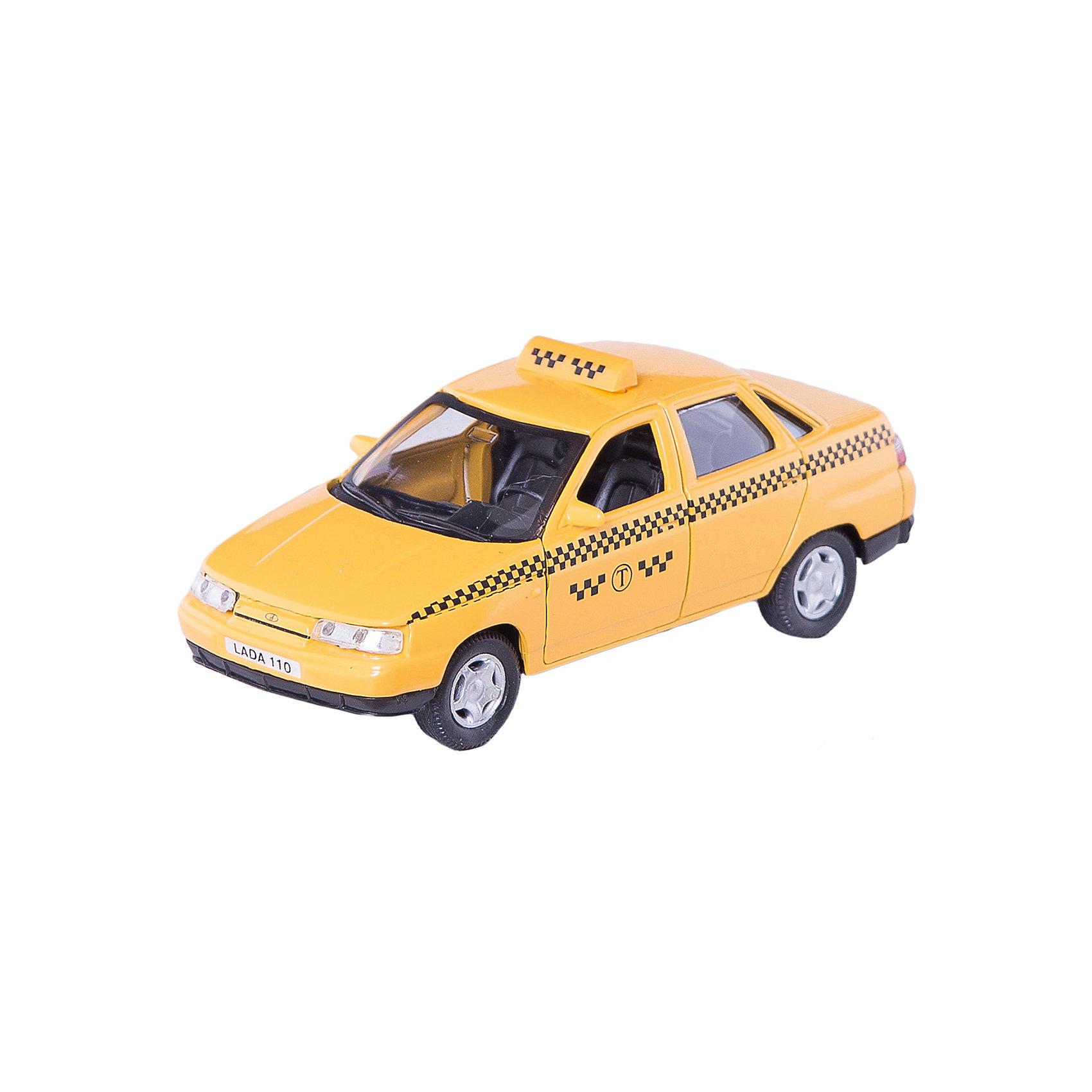Машинка Lada 110 такси 1:36, AutotimeМашинки<br>Характеристики товара:<br><br>• цвет: желтый<br>• материал: металл, пластик<br>• размер: 16,5х7,х5,7 см<br>• вес: 100 г<br>• масштаб: 1:36<br>• прочный материал<br>• хорошая детализация<br>• открываются двери<br>• страна бренда: Россия<br>• страна производства: Китай<br><br>Коллекционная машинка LADA 110 такси от бренда AUTOTIME станет отличным подарком для мальчика. Подробная детализация машинки порадует увлеченного коллекционера, а открывающиеся двери и свободно вращающиеся колеса придутся по душе юному владельцу игрушечного гаража. Эта игрушка подарит восторг и радость вашему ребенку. <br><br>Игрушка также воздействует на наглядно-образное мышление, логическое мышление, развивает мелкую моторику. Изделие выполнено из сертифицированных материалов, безопасных для детей.<br><br>Машинку «Lada 110» такси от бренда AUTOTIME можно купить в нашем интернет-магазине.<br><br>Ширина мм: 165<br>Глубина мм: 57<br>Высота мм: 75<br>Вес г: 13<br>Возраст от месяцев: 36<br>Возраст до месяцев: 2147483647<br>Пол: Мужской<br>Возраст: Детский<br>SKU: 5583932