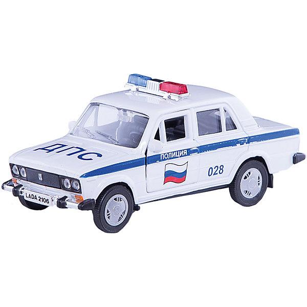 Машинка Lada 2106 полиция 1:36, AutotimeМашинки<br>Характеристики товара:<br><br>• цвет: белый<br>• материал: металл, пластик<br>• размер: 16,5х7,х5,7 см<br>• вес: 100 г<br>• масштаб: 1:36<br>• прочный материал<br>• хорошая детализация<br>• открываются двери<br>• страна бренда: Россия<br>• страна производства: Китай<br><br>Коллекционная машинка LADA 2106 полиция от бренда AUTOTIME станет отличным подарком для мальчика. Подробная детализация машинки порадует увлеченного коллекционера, а открывающиеся двери и свободно вращающиеся колеса придутся по душе юному владельцу игрушечного гаража. Эта игрушка подарит восторг и радость вашему ребенку. <br><br>Игрушка также воздействует на наглядно-образное мышление, логическое мышление, развивает мелкую моторику. Изделие выполнено из сертифицированных материалов, безопасных для детей.<br><br>Машинку «Lada 2106» полиция от бренда AUTOTIME можно купить в нашем интернет-магазине.<br>Ширина мм: 165; Глубина мм: 57; Высота мм: 75; Вес г: 13; Возраст от месяцев: 36; Возраст до месяцев: 2147483647; Пол: Мужской; Возраст: Детский; SKU: 5583937;