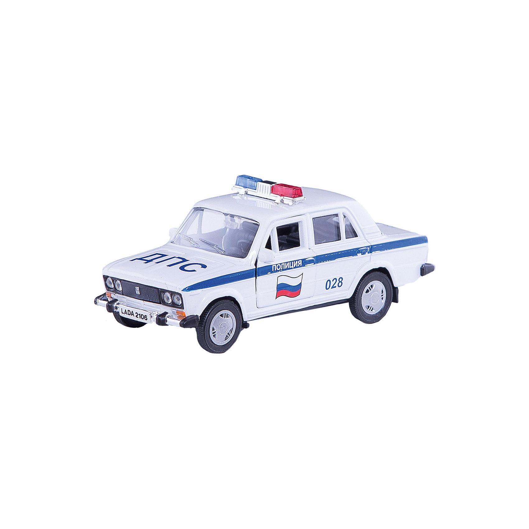 Машинка Lada 2106 полиция 1:36, AutotimeМашинки<br>Характеристики товара:<br><br>• цвет: белый<br>• материал: металл, пластик<br>• размер: 16,5х7,х5,7 см<br>• вес: 100 г<br>• масштаб: 1:36<br>• прочный материал<br>• хорошая детализация<br>• открываются двери<br>• страна бренда: Россия<br>• страна производства: Китай<br><br>Коллекционная машинка LADA 2106 полиция от бренда AUTOTIME станет отличным подарком для мальчика. Подробная детализация машинки порадует увлеченного коллекционера, а открывающиеся двери и свободно вращающиеся колеса придутся по душе юному владельцу игрушечного гаража. Эта игрушка подарит восторг и радость вашему ребенку. <br><br>Игрушка также воздействует на наглядно-образное мышление, логическое мышление, развивает мелкую моторику. Изделие выполнено из сертифицированных материалов, безопасных для детей.<br><br>Машинку «Lada 2106» полиция от бренда AUTOTIME можно купить в нашем интернет-магазине.<br><br>Ширина мм: 165<br>Глубина мм: 57<br>Высота мм: 75<br>Вес г: 13<br>Возраст от месяцев: 36<br>Возраст до месяцев: 2147483647<br>Пол: Мужской<br>Возраст: Детский<br>SKU: 5583937