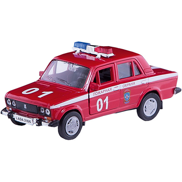 Машинка Lada 2106 пожарная охрана 1:36, AutotimeМашинки<br>Характеристики товара:<br><br>• цвет: красный<br>• материал: металл, пластик<br>• размер: 16,5х7,х5,7 см<br>• вес: 100 г<br>• масштаб: 1:36<br>• прочный материал<br>• хорошая детализация<br>• открываются двери<br>• страна бренда: Россия<br>• страна производства: Китай<br><br>Коллекционная машинка LADA 2106 пожарная охрана от бренда AUTOTIME станет отличным подарком для мальчика. Подробная детализация машинки порадует увлеченного коллекционера, а открывающиеся двери и свободно вращающиеся колеса придутся по душе юному владельцу игрушечного гаража. Эта игрушка подарит восторг и радость вашему ребенку. <br><br>Игрушка также воздействует на наглядно-образное мышление, логическое мышление, развивает мелкую моторику. Изделие выполнено из сертифицированных материалов, безопасных для детей.<br><br>Машинку «Lada 2106» пожарная охрана от бренда AUTOTIME можно купить в нашем интернет-магазине.<br><br>Ширина мм: 165<br>Глубина мм: 57<br>Высота мм: 75<br>Вес г: 13<br>Возраст от месяцев: 36<br>Возраст до месяцев: 2147483647<br>Пол: Мужской<br>Возраст: Детский<br>SKU: 5583939