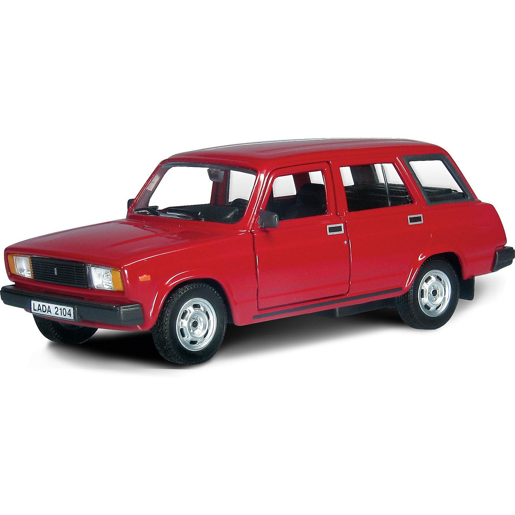 Машинка Lada 2104 гражданская 1:36, AutotimeМашинки<br>Характеристики товара:<br><br>• цвет: красный<br>• материал: металл, пластик<br>• размер: 16,5х7,х5,7 см<br>• вес: 100 г<br>• масштаб: 1:36<br>• прочный материал<br>• хорошая детализация<br>• открываются двери<br>• страна бренда: Россия<br>• страна производства: Китай<br><br>Коллекционная машинка LADA 2104 гражданская от бренда AUTOTIME станет отличным подарком для мальчика. Подробная детализация машинки порадует увлеченного коллекционера, а открывающиеся двери и свободно вращающиеся колеса придутся по душе юному владельцу игрушечного гаража. Эта игрушка подарит восторг и радость вашему ребенку. <br><br>Игрушка также воздействует на наглядно-образное мышление, логическое мышление, развивает мелкую моторику. Изделие выполнено из сертифицированных материалов, безопасных для детей.<br><br>Машинку «Lada 2104» гражданская от бренда AUTOTIME можно купить в нашем интернет-магазине.<br><br>Ширина мм: 165<br>Глубина мм: 57<br>Высота мм: 75<br>Вес г: 13<br>Возраст от месяцев: 36<br>Возраст до месяцев: 2147483647<br>Пол: Мужской<br>Возраст: Детский<br>SKU: 5583945