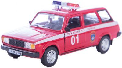 Машинка Lada 2104 пожарная охрана 1:36, Autotime
