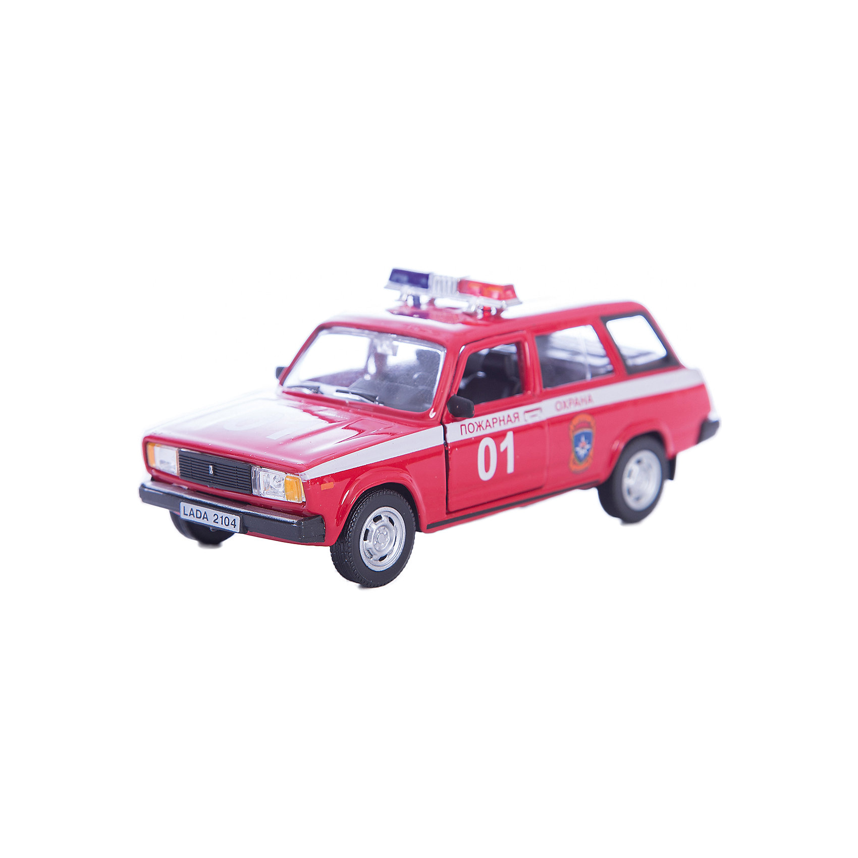 Машинка Lada 2104 пожарная охрана 1:36, AutotimeМашинки<br>Характеристики товара:<br><br>• цвет: красный<br>• материал: металл, пластик<br>• размер: 16,5х7,х5,7 см<br>• вес: 100 г<br>• масштаб: 1:36<br>• прочный материал<br>• хорошая детализация<br>• открываются двери<br>• страна бренда: Россия<br>• страна производства: Китай<br><br>Коллекционная машинка LADA 2104 пожарная охрана от бренда AUTOTIME станет отличным подарком для мальчика. Подробная детализация машинки порадует увлеченного коллекционера, а открывающиеся двери и свободно вращающиеся колеса придутся по душе юному владельцу игрушечного гаража. Эта игрушка подарит восторг и радость вашему ребенку. <br><br>Игрушка также воздействует на наглядно-образное мышление, логическое мышление, развивает мелкую моторику. Изделие выполнено из сертифицированных материалов, безопасных для детей.<br><br>Машинку «Lada 2104» пожарная охрана от бренда AUTOTIME можно купить в нашем интернет-магазине.<br><br>Ширина мм: 165<br>Глубина мм: 57<br>Высота мм: 75<br>Вес г: 13<br>Возраст от месяцев: 36<br>Возраст до месяцев: 2147483647<br>Пол: Мужской<br>Возраст: Детский<br>SKU: 5583948