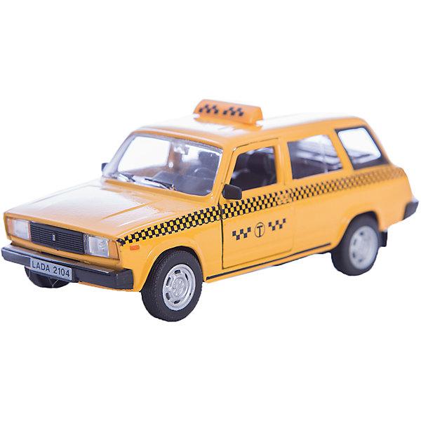 Машинка Lada 2104 такси 1:36, AutotimeМашинки<br>Характеристики товара:<br><br>• цвет: желтый<br>• материал: металл, пластик<br>• размер: 16,5х7,х5,7 см<br>• вес: 100 г<br>• масштаб: 1:36<br>• прочный материал<br>• хорошая детализация<br>• открываются двери<br>• страна бренда: Россия<br>• страна производства: Китай<br><br>Коллекционная машинка LADA 2104 такси от бренда AUTOTIME станет отличным подарком для мальчика. Подробная детализация машинки порадует увлеченного коллекционера, а открывающиеся двери и свободно вращающиеся колеса придутся по душе юному владельцу игрушечного гаража. Эта игрушка подарит восторг и радость вашему ребенку. <br><br>Игрушка также воздействует на наглядно-образное мышление, логическое мышление, развивает мелкую моторику. Изделие выполнено из сертифицированных материалов, безопасных для детей.<br><br>Машинку «Lada 2104» такси от бренда AUTOTIME можно купить в нашем интернет-магазине.<br>Ширина мм: 165; Глубина мм: 57; Высота мм: 75; Вес г: 13; Возраст от месяцев: 36; Возраст до месяцев: 2147483647; Пол: Мужской; Возраст: Детский; SKU: 5583951;