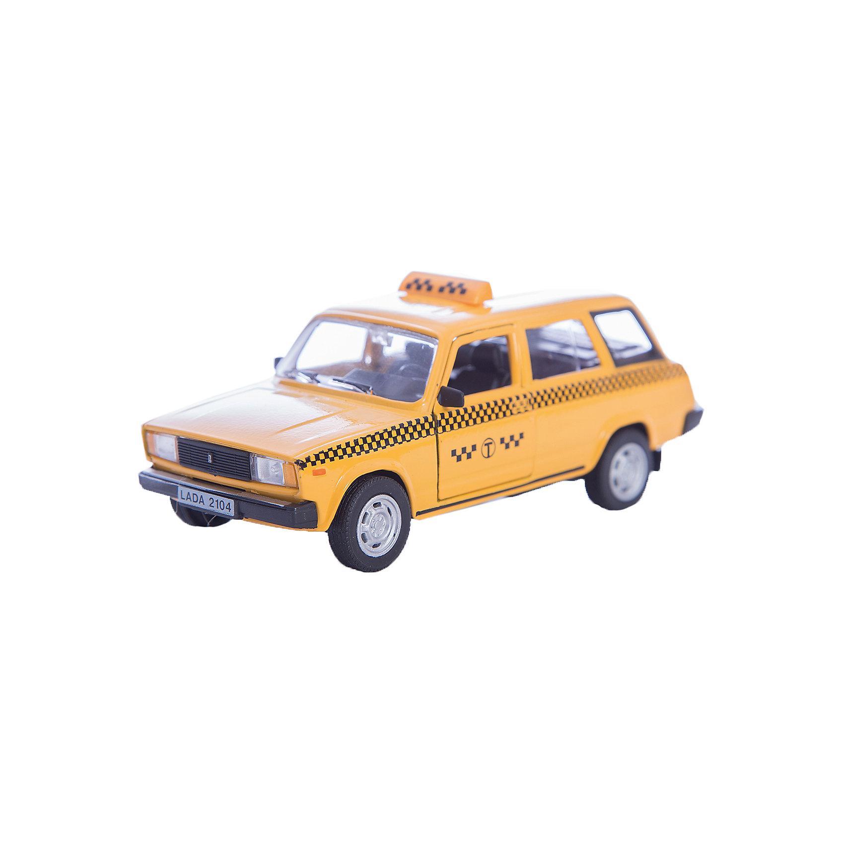 Машинка Lada 2104 такси 1:36, AutotimeМашинки<br>Характеристики товара:<br><br>• цвет: желтый<br>• материал: металл, пластик<br>• размер: 16,5х7,х5,7 см<br>• вес: 100 г<br>• масштаб: 1:36<br>• прочный материал<br>• хорошая детализация<br>• открываются двери<br>• страна бренда: Россия<br>• страна производства: Китай<br><br>Коллекционная машинка LADA 2104 такси от бренда AUTOTIME станет отличным подарком для мальчика. Подробная детализация машинки порадует увлеченного коллекционера, а открывающиеся двери и свободно вращающиеся колеса придутся по душе юному владельцу игрушечного гаража. Эта игрушка подарит восторг и радость вашему ребенку. <br><br>Игрушка также воздействует на наглядно-образное мышление, логическое мышление, развивает мелкую моторику. Изделие выполнено из сертифицированных материалов, безопасных для детей.<br><br>Машинку «Lada 2104» такси от бренда AUTOTIME можно купить в нашем интернет-магазине.<br><br>Ширина мм: 165<br>Глубина мм: 57<br>Высота мм: 75<br>Вес г: 13<br>Возраст от месяцев: 36<br>Возраст до месяцев: 2147483647<br>Пол: Мужской<br>Возраст: Детский<br>SKU: 5583951