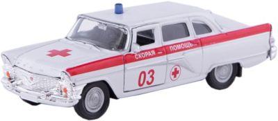 Машинка ГАЗ-13 Чайка скорая помощь 1:43, Autotime