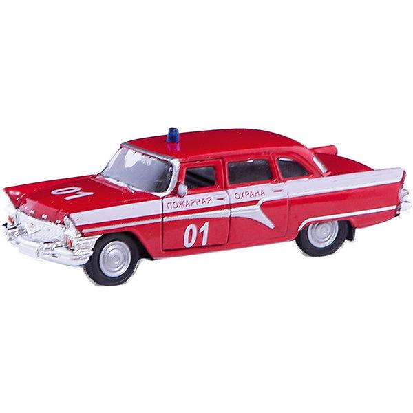 Машинка ГАЗ-13 Чайка пожарная 1:43, AutotimeМашинки<br>Характеристики товара:<br><br>• цвет: красный<br>• материал: металл, пластик<br>• размер: 16х7,5х5,7 см<br>• вес: 100 г<br>• масштаб: 1:43<br>• прочный материал<br>• хорошая детализация<br>• открываются двери<br>• вращаются колеса<br>• коллекционная<br>• страна бренда: Россия<br>• страна производства: Китай<br><br>Металлическая машинка ГАЗ-13 Чайка от бренда AUTOTIME придется по душе мальчикам. Это идеальный подарок для ценителя и коллекционера автомобилей, которые выполнены с подробной детализацией. Игрушка является настоящей копией машины «Чайка», которая выпускалась в СССР. Двери машинки открываются свободно, колеса вращаются. Поэтому она может стать и частью коллекции, и выступать отдельной игрушкой.<br><br>Машинка может выполнять сразу несколько функций: развлекать ребенка, помогать вырабатывать практические качества: ловкость, координацию, мелкую моторику. Также в процессе увлекательной игры развивается фантазия ребенка. Изделие выполнено из сертифицированных материалов, безопасных для детей.<br><br>Машинку ГАЗ-13 Чайка пожарная от бренда AUTOTIME можно купить в нашем интернет-магазине.<br><br>Ширина мм: 165<br>Глубина мм: 57<br>Высота мм: 75<br>Вес г: 13<br>Возраст от месяцев: 36<br>Возраст до месяцев: 2147483647<br>Пол: Мужской<br>Возраст: Детский<br>SKU: 5583956