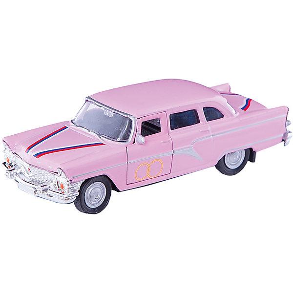 Машинка ГАЗ-13 Чайка свадебная 1:43, AutotimeМашинки<br>Характеристики товара:<br><br>• цвет: розовый<br>• материал: металл, пластик<br>• размер: 16х7,5х5,7 см<br>• вес: 100 г<br>• масштаб: 1:43<br>• прочный материал<br>• хорошая детализация<br>• открываются двери<br>• вращаются колеса<br>• коллекционная<br>• страна бренда: Россия<br>• страна производства: Китай<br><br>Металлическая машинка ГАЗ-13 Чайка от бренда AUTOTIME придется по душе мальчикам. Это идеальный подарок для ценителя и коллекционера автомобилей, которые выполнены с подробной детализацией. Игрушка является настоящей копией машины «Чайка», которая выпускалась в СССР. Двери машинки открываются свободно, колеса вращаются. Поэтому она может стать и частью коллекции, и выступать отдельной игрушкой.<br><br>Машинка может выполнять сразу несколько функций: развлекать ребенка, помогать вырабатывать практические качества: ловкость, координацию, мелкую моторику. Также в процессе увлекательной игры развивается фантазия ребенка. Изделие выполнено из сертифицированных материалов, безопасных для детей.<br><br>Машинку ГАЗ-13 Чайка свадебная от бренда AUTOTIME можно купить в нашем интернет-магазине.<br><br>Ширина мм: 165<br>Глубина мм: 57<br>Высота мм: 75<br>Вес г: 13<br>Возраст от месяцев: 36<br>Возраст до месяцев: 2147483647<br>Пол: Мужской<br>Возраст: Детский<br>SKU: 5583961