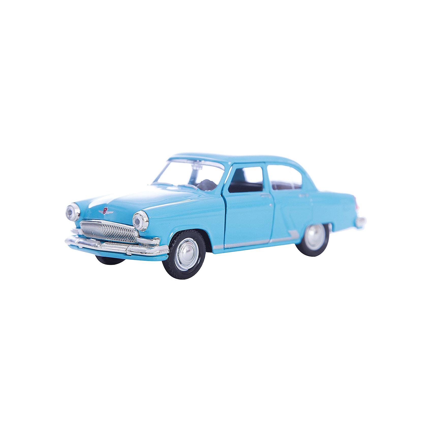Машинка ГАЗ-21 Волга гражданская 1:43, AutotimeМашинки<br>Характеристики товара:<br><br>• цвет: голубой<br>• материал: металл, пластик<br>• размер: 16х7,5х5,7 см<br>• вес: 100 г<br>• масштаб: 1:43<br>• прочный материал<br>• хорошая детализация<br>• открываются двери<br>• вращаются колеса<br>• коллекционная<br>• страна бренда: Россия<br>• страна производства: Китай<br><br>Металлическая машинка ГАЗ-21 Волга от бренда AUTOTIME придется по душе мальчикам. Это идеальный подарок для ценителя и коллекционера автомобилей, которые выполнены с подробной детализацией. Игрушка является настоящей копией машины «Волга». Двери машинки открываются свободно, колеса вращаются. Поэтому она может стать и частью коллекции, и выступать отдельной игрушкой.<br><br>Машинка может выполнять сразу несколько функций: развлекать ребенка, помогать вырабатывать практические качества: ловкость, координацию, мелкую моторику. Также в процессе увлекательной игры развивается фантазия ребенка. Изделие выполнено из сертифицированных материалов, безопасных для детей.<br><br>Машинку ГАЗ-21 Волга гражданская от бренда AUTOTIME можно купить в нашем интернет-магазине.<br><br>Ширина мм: 165<br>Глубина мм: 57<br>Высота мм: 75<br>Вес г: 13<br>Возраст от месяцев: 36<br>Возраст до месяцев: 2147483647<br>Пол: Мужской<br>Возраст: Детский<br>SKU: 5583962