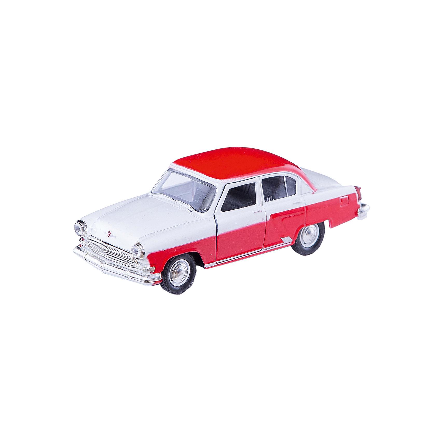 Машинка ГАЗ-21 Волга двухцветная 1:43, AutotimeМашинки<br>Характеристики товара:<br><br>• цвет: красно-белый<br>• материал: металл, пластик<br>• размер: 16х7,5х5,7 см<br>• вес: 100 г<br>• масштаб: 1:43<br>• прочный материал<br>• хорошая детализация<br>• открываются двери<br>• вращаются колеса<br>• коллекционная<br>• страна бренда: Россия<br>• страна производства: Китай<br><br>Металлическая машинка ГАЗ-21 Волга от бренда AUTOTIME придется по душе мальчикам. Это идеальный подарок для ценителя и коллекционера автомобилей, которые выполнены с подробной детализацией. Игрушка является настоящей копией машины «Волга». Двери машинки открываются свободно, колеса вращаются. Поэтому она может стать и частью коллекции, и выступать отдельной игрушкой.<br><br>Машинка может выполнять сразу несколько функций: развлекать ребенка, помогать вырабатывать практические качества: ловкость, координацию, мелкую моторику. Также в процессе увлекательной игры развивается фантазия ребенка. Изделие выполнено из сертифицированных материалов, безопасных для детей.<br><br>Машинку ГАЗ-21 Волга двухцветная от бренда AUTOTIME можно купить в нашем интернет-магазине.<br><br>Ширина мм: 165<br>Глубина мм: 57<br>Высота мм: 75<br>Вес г: 13<br>Возраст от месяцев: 36<br>Возраст до месяцев: 2147483647<br>Пол: Мужской<br>Возраст: Детский<br>SKU: 5583963