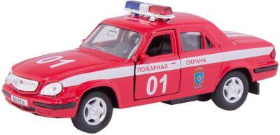 Машинка ГАЗ-31105 Волга пожарная охрана 1:43, Autotime