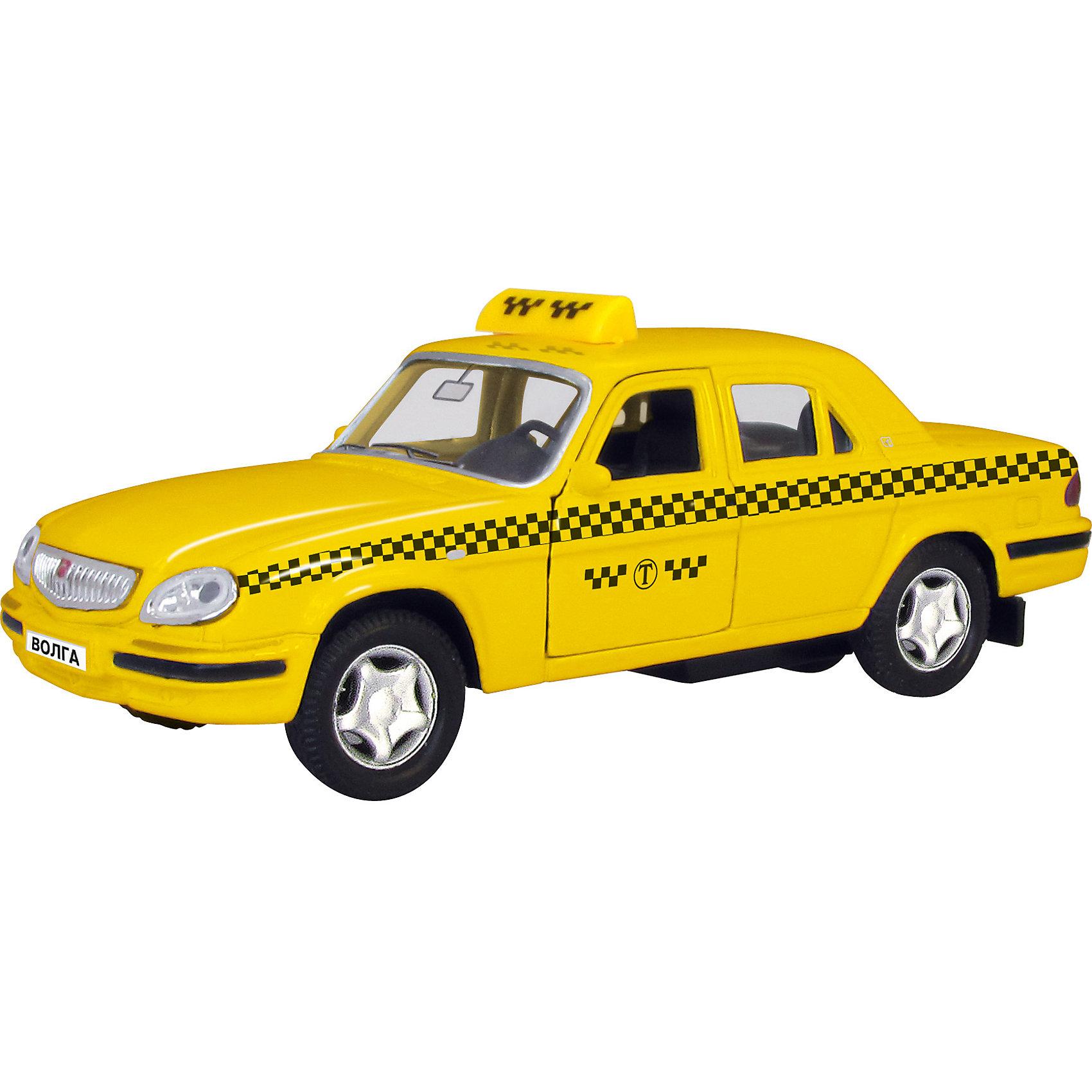 Машинка ГАЗ-31105 Волга такси 1:43, AutotimeМашинки<br>Характеристики товара:<br><br>• цвет: желтый<br>• материал: металл, пластик<br>• размер: 16х7,5х5,7 см<br>• вес: 100 г<br>• масштаб: 1:43<br>• прочный материал<br>• хорошая детализация<br>• открываются двери<br>• вращаются колеса<br>• коллекционная<br>• страна бренда: Россия<br>• страна производства: Китай<br><br>Металлическая машинка ГАЗ-31105 Волга от бренда AUTOTIME придется по душе мальчикам. Это идеальный подарок для ценителя и коллекционера автомобилей, которые выполнены с подробной детализацией. Игрушка является настоящей копией машины «Волга». Двери машинки открываются свободно, колеса вращаются. Поэтому она может стать и частью коллекции, и выступать отдельной игрушкой.<br><br>Машинка может выполнять сразу несколько функций: развлекать ребенка, помогать вырабатывать практические качества: ловкость, координацию, мелкую моторику. Также в процессе увлекательной игры развивается фантазия ребенка. Изделие выполнено из сертифицированных материалов, безопасных для детей.<br><br>Машинку ГАЗ-31105 Волга такси от бренда AUTOTIME можно купить в нашем интернет-магазине.<br><br>Ширина мм: 165<br>Глубина мм: 57<br>Высота мм: 75<br>Вес г: 13<br>Возраст от месяцев: 36<br>Возраст до месяцев: 2147483647<br>Пол: Мужской<br>Возраст: Детский<br>SKU: 5583974
