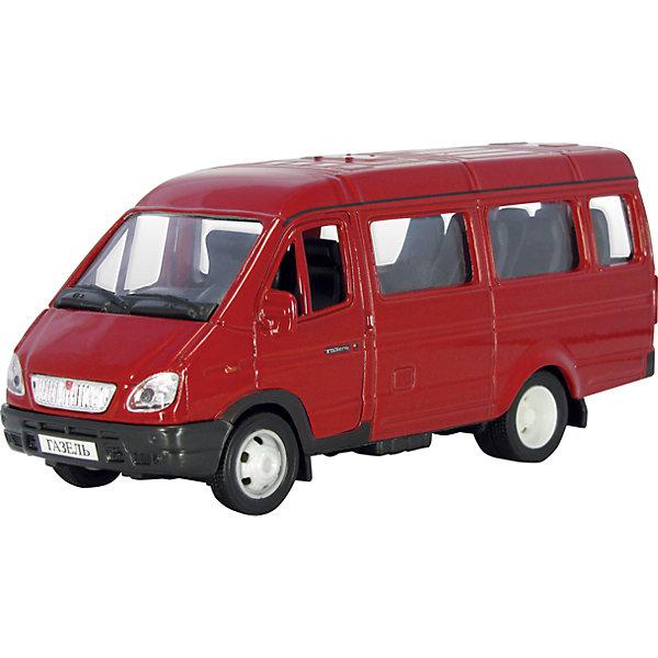 Машинка Газель пассажирская 1:43, AutotimeМашинки<br>Машинка Газель пассажирская 1:43, Autotime (Автотайм).<br><br>Характеристики:<br><br>• Масштаб 1:43<br>• Длина машины:12,5 см.<br>• Цвет: красный<br>• Материал: металл, пластик<br>• Упаковка: картонная коробка блистерного типа<br>• Размер упаковки: 16,5x5,7x7,2 см.<br><br>Машинка Газель пассажирская от Autotime (Автотайм) является уменьшенной копией настоящего автомобиля. Модель отличается высокой степенью детализации. Корпус машинки металлический с пластиковыми элементами. Автомобиль очень реалистично раскрашен. Передние двери открываются, что позволяет рассмотреть салон изнутри в деталях. Колеса автомобиля вращаются. Машинка Газель пассажирская, выпущенная в русской серии бренда Autotime (Автотайм), станет хорошим подарком и ребенку, и коллекционеру моделей автомобилей.<br><br>Машинку Газель пассажирскую 1:43, Autotime (Автотайм) можно купить в нашем интернет-магазине.<br><br>Ширина мм: 165<br>Глубина мм: 57<br>Высота мм: 75<br>Вес г: 13<br>Возраст от месяцев: 36<br>Возраст до месяцев: 2147483647<br>Пол: Мужской<br>Возраст: Детский<br>SKU: 5583977