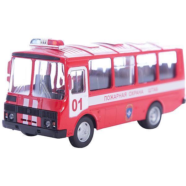 Машинка ПАЗ-32053 пожарная охрана 1:43, AutotimeМашинки<br>Характеристики товара:<br><br>• цвет: красный<br>• материал: металл, пластик<br>• размер упаковки: 22х7х17 см<br>• вес: 100 г<br>• масштаб: 1:43<br>• хорошая детализация<br>• вращаются колеса<br>• коллекционная<br>• страна бренда: Россия<br>• страна производства: Китай<br><br>Металлическая машинка ПАЗ-32053 от бренда AUTOTIME придется по душе мальчикам. Это идеальный подарок для ценителя и коллекционера автомобилей, которые выполнены с подробной детализацией. Игрушка является настоящей копией автобуса. Колеса машинки вращаются. Поэтому она может стать и частью коллекции, и выступать отдельной игрушкой.<br><br>Машинка может выполнять сразу несколько функций: развлекать ребенка, помогать вырабатывать практические качества: ловкость, координацию, мелкую моторику. Также в процессе увлекательной игры развивается фантазия ребенка. Изделие выполнено из сертифицированных материалов, безопасных для детей.<br><br>Машинку ПАЗ-32053 пожарная охрана от бренда AUTOTIME можно купить в нашем интернет-магазине.<br><br>Ширина мм: 165<br>Глубина мм: 57<br>Высота мм: 75<br>Вес г: 13<br>Возраст от месяцев: 36<br>Возраст до месяцев: 2147483647<br>Пол: Мужской<br>Возраст: Детский<br>SKU: 5583984