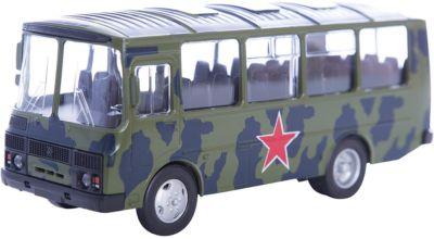 Машинка ПАЗ-32053 армейский 1:43, Autotime