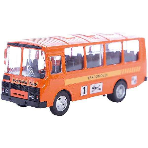 Машинка ПАЗ-32053 техпомощь 1:43, AutotimeМашинки<br>Характеристики товара:<br><br>• цвет: оранжевый<br>• материал: металл, пластик<br>• размер упаковки: 22х7х17 см<br>• вес: 100 г<br>• масштаб: 1:43<br>• хорошая детализация<br>• вращаются колеса<br>• коллекционная<br>• страна бренда: Россия<br>• страна производства: Китай<br><br>Металлическая машинка ПАЗ-32053 от бренда AUTOTIME придется по душе мальчикам. Это идеальный подарок для ценителя и коллекционера автомобилей, которые выполнены с подробной детализацией. Игрушка является настоящей копией автобуса. Колеса машинки вращаются. Поэтому она может стать и частью коллекции, и выступать отдельной игрушкой.<br><br>Машинка может выполнять сразу несколько функций: развлекать ребенка, помогать вырабатывать практические качества: ловкость, координацию, мелкую моторику. Также в процессе увлекательной игры развивается фантазия ребенка. Изделие выполнено из сертифицированных материалов, безопасных для детей.<br><br>Машинку ПАЗ-32053 техпомощь от бренда AUTOTIME можно купить в нашем интернет-магазине.<br><br>Ширина мм: 165<br>Глубина мм: 57<br>Высота мм: 75<br>Вес г: 13<br>Возраст от месяцев: 36<br>Возраст до месяцев: 2147483647<br>Пол: Мужской<br>Возраст: Детский<br>SKU: 5583990