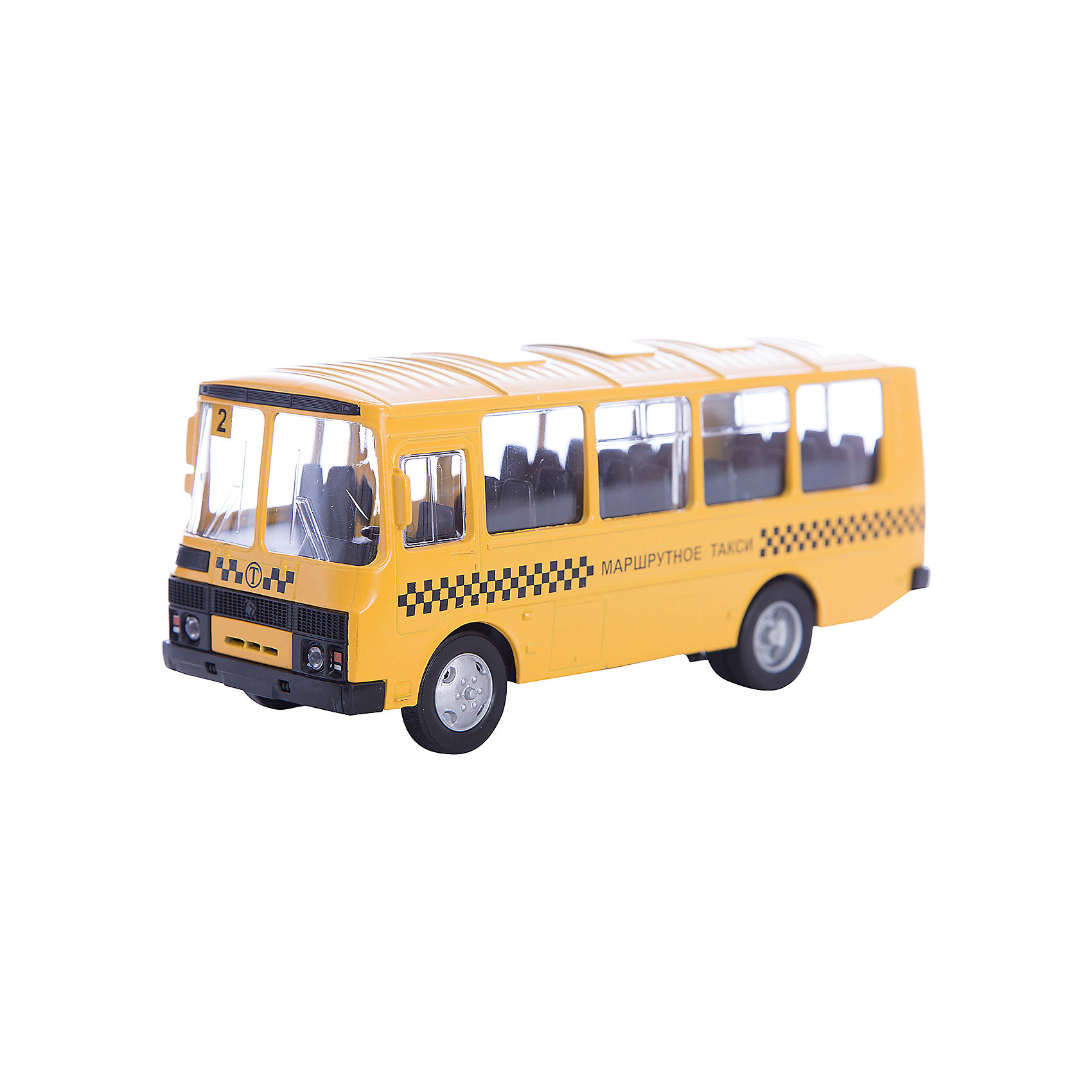 Машинка ПАЗ-32053 маршрутное такси 1:43, AutotimeМашинки<br>Характеристики товара:<br><br>• цвет: желтый<br>• материал: металл, пластик<br>• размер упаковки: 22х7х17 см<br>• вес: 100 г<br>• масштаб: 1:43<br>• хорошая детализация<br>• вращаются колеса<br>• коллекционная<br>• страна бренда: Россия<br>• страна производства: Китай<br><br>Металлическая машинка ПАЗ-32053 от бренда AUTOTIME придется по душе мальчикам. Это идеальный подарок для ценителя и коллекционера автомобилей, которые выполнены с подробной детализацией. Игрушка является настоящей копией автобуса. Колеса машинки вращаются. Поэтому она может стать и частью коллекции, и выступать отдельной игрушкой.<br><br>Машинка может выполнять сразу несколько функций: развлекать ребенка, помогать вырабатывать практические качества: ловкость, координацию, мелкую моторику. Также в процессе увлекательной игры развивается фантазия ребенка. Изделие выполнено из сертифицированных материалов, безопасных для детей.<br><br>Машинку ПАЗ-32053 маршрутное такси от бренда AUTOTIME можно купить в нашем интернет-магазине.<br><br>Ширина мм: 165<br>Глубина мм: 57<br>Высота мм: 75<br>Вес г: 13<br>Возраст от месяцев: 36<br>Возраст до месяцев: 2147483647<br>Пол: Мужской<br>Возраст: Детский<br>SKU: 5583991