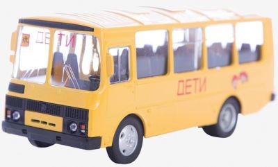 Машинка ПАЗ-32053 школьный автобус 1:43, Autotime