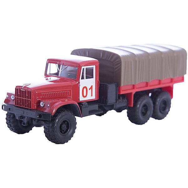 Машинка KRAZ-255B пожарная охрана, AutotimeМашинки<br>Характеристики товара:<br><br>• цвет: красный<br>• материал: металл, пластик<br>• длина: 20 см<br>• размер упаковки: 22х7х17 см<br>• вес: 100 г<br>• масштаб: 1:43<br>• хорошая детализация<br>• вращаются колеса<br>• коллекционная<br>• страна бренда: Россия<br>• страна производства: Китай<br><br>Многие мальчики в детстве мечтают стать героями. Эта машинка позволит вашему ребенку представить себя на месте отважного спасателя! Коллекционная модель машины - это уменьшенная копия грузовика. Данная модель выполнена с тщательной детализацией и представлена в масштабе 1:43. Кабина грузовика окрашена в характерный цвет. <br><br>Машинка может выполнять сразу несколько функций: развлекать ребенка, помогать вырабатывать практические качества: ловкость, координацию, мелкую моторику. Также в процессе увлекательной игры развивается фантазия ребенка. Изделие выполнено из сертифицированных материалов, безопасных для детей. Машинка стимулирует двигательную активность ребенка, дает представление об устройстве автомобиля. Эта модель станет отличным подарком как отдельная игрушка, а также может пополнить коллекцию юного ценителя техники.<br><br>Машинку KRAZ-255B пожарная охрана от бренда AUTOTIME можно купить в нашем интернет-магазине.<br><br>Ширина мм: 250<br>Глубина мм: 95<br>Высота мм: 110<br>Вес г: 25<br>Возраст от месяцев: 36<br>Возраст до месяцев: 2147483647<br>Пол: Мужской<br>Возраст: Детский<br>SKU: 5583994