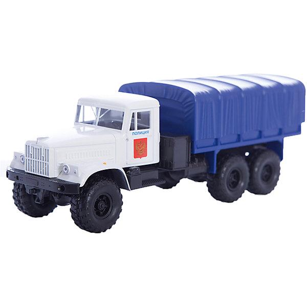 Машинка KRAZ-255B полиция, AutotimeМашинки<br>Характеристики товара:<br><br>• цвет: синий<br>• материал: металл, пластик<br>• длина: 20 см<br>• размер упаковки: 22х7х17 см<br>• вес: 100 г<br>• масштаб: 1:43<br>• хорошая детализация<br>• вращаются колеса<br>• коллекционная<br>• страна бренда: Россия<br>• страна производства: Китай<br><br>Многие мальчики в детстве мечтают стать героями. Эта машинка позволит вашему ребенку представить себя на месте отважного спасателя! Коллекционная модель машины - это уменьшенная копия грузовика. Данная модель выполнена с тщательной детализацией и представлена в масштабе 1:43. Кабина грузовика окрашена в характерный цвет. <br><br>Машинка может выполнять сразу несколько функций: развлекать ребенка, помогать вырабатывать практические качества: ловкость, координацию, мелкую моторику. Также в процессе увлекательной игры развивается фантазия ребенка. Изделие выполнено из сертифицированных материалов, безопасных для детей. Машинка стимулирует двигательную активность ребенка, дает представление об устройстве автомобиля. Эта модель станет отличным подарком как отдельная игрушка, а также может пополнить коллекцию юного ценителя техники.<br><br>Машинку KRAZ-255B полиция от бренда AUTOTIME можно купить в нашем интернет-магазине.<br>Ширина мм: 250; Глубина мм: 95; Высота мм: 110; Вес г: 25; Возраст от месяцев: 36; Возраст до месяцев: 2147483647; Пол: Мужской; Возраст: Детский; SKU: 5583997;