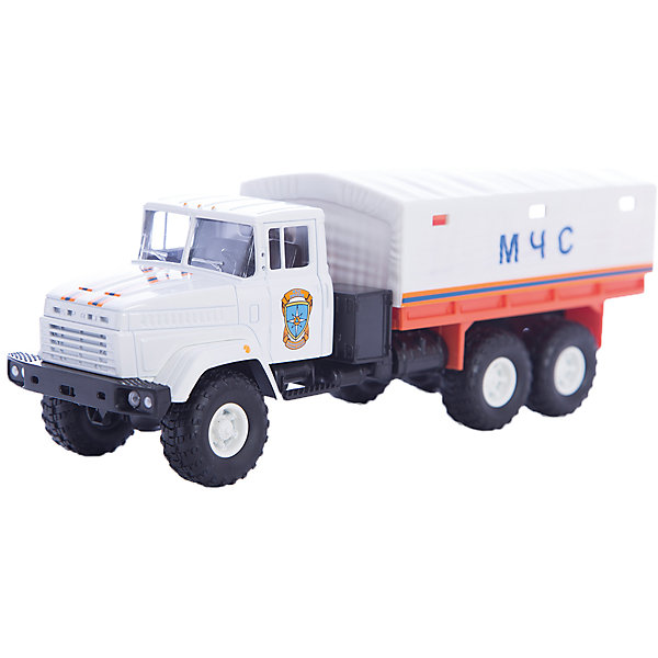 Машинка KRAZ-6322 МЧС, AutotimeМашинки<br>Характеристики товара:<br><br>• цвет: белый<br>• материал: металл, пластик<br>• длина: 20 см<br>• размер упаковки: 22х7х17 см<br>• вес: 100 г<br>• масштаб: 1:43<br>• хорошая детализация<br>• вращаются колеса<br>• коллекционная<br>• страна бренда: Россия<br>• страна производства: Китай<br><br>Многие мальчики в детстве мечтают стать героями. Эта машинка позволит вашему ребенку представить себя на месте отважного спасателя! Коллекционная модель машины - это уменьшенная копия грузовика. Данная модель выполнена с тщательной детализацией и представлена в масштабе 1:43. Кабина грузовика окрашена в характерный цвет. <br><br>Машинка может выполнять сразу несколько функций: развлекать ребенка, помогать вырабатывать практические качества: ловкость, координацию, мелкую моторику. Также в процессе увлекательной игры развивается фантазия ребенка. Изделие выполнено из сертифицированных материалов, безопасных для детей. Машинка стимулирует двигательную активность ребенка, дает представление об устройстве автомобиля. Эта модель станет отличным подарком как отдельная игрушка, а также может пополнить коллекцию юного ценителя техники.<br><br>Машинку KRAZ-6322 МЧС от бренда AUTOTIME можно купить в нашем интернет-магазине.<br>Ширина мм: 250; Глубина мм: 95; Высота мм: 110; Вес г: 25; Возраст от месяцев: 36; Возраст до месяцев: 2147483647; Пол: Мужской; Возраст: Детский; SKU: 5584002;