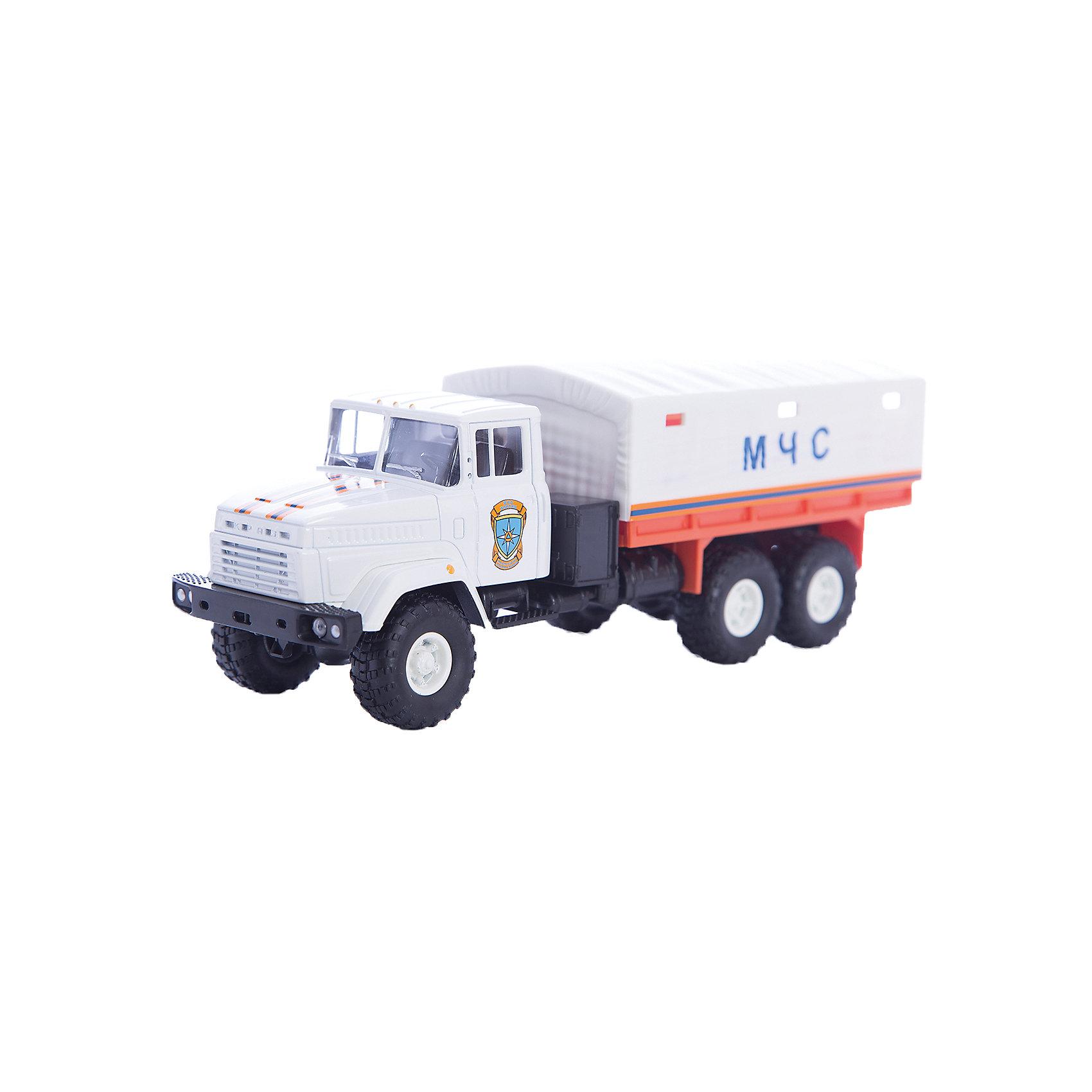 Машинка KRAZ-6322 МЧС, AutotimeМашинки<br>Характеристики товара:<br><br>• цвет: белый<br>• материал: металл, пластик<br>• длина: 20 см<br>• размер упаковки: 22х7х17 см<br>• вес: 100 г<br>• масштаб: 1:43<br>• хорошая детализация<br>• вращаются колеса<br>• коллекционная<br>• страна бренда: Россия<br>• страна производства: Китай<br><br>Многие мальчики в детстве мечтают стать героями. Эта машинка позволит вашему ребенку представить себя на месте отважного спасателя! Коллекционная модель машины - это уменьшенная копия грузовика. Данная модель выполнена с тщательной детализацией и представлена в масштабе 1:43. Кабина грузовика окрашена в характерный цвет. <br><br>Машинка может выполнять сразу несколько функций: развлекать ребенка, помогать вырабатывать практические качества: ловкость, координацию, мелкую моторику. Также в процессе увлекательной игры развивается фантазия ребенка. Изделие выполнено из сертифицированных материалов, безопасных для детей. Машинка стимулирует двигательную активность ребенка, дает представление об устройстве автомобиля. Эта модель станет отличным подарком как отдельная игрушка, а также может пополнить коллекцию юного ценителя техники.<br><br>Машинку KRAZ-6322 МЧС от бренда AUTOTIME можно купить в нашем интернет-магазине.<br><br>Ширина мм: 250<br>Глубина мм: 95<br>Высота мм: 110<br>Вес г: 25<br>Возраст от месяцев: 36<br>Возраст до месяцев: 2147483647<br>Пол: Мужской<br>Возраст: Детский<br>SKU: 5584002