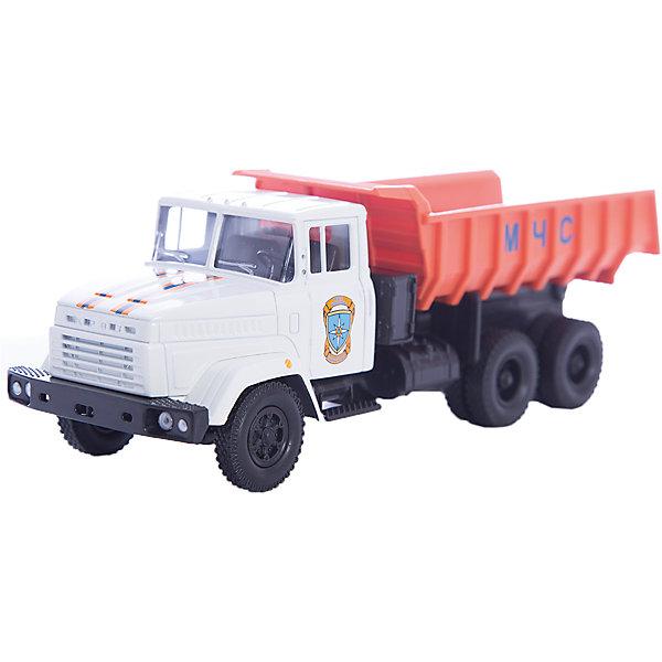 Машинка KRAZ-6510 МЧС, AutotimeМашинки<br>Характеристики товара:<br><br>• цвет: бело-оранжевый<br>• материал: металл, пластик<br>• длина: 20 см<br>• размер упаковки: 22х7х17 см<br>• вес: 100 г<br>• масштаб: 1:43<br>• хорошая детализация<br>• вращаются колеса<br>• коллекционная<br>• страна бренда: Россия<br>• страна производства: Китай<br><br>Многие мальчики в детстве мечтают стать героями. Эта машинка позволит вашему ребенку представить себя на месте отважного спасателя! Коллекционная модель машины - это уменьшенная копия грузовика. Данная модель выполнена с тщательной детализацией и представлена в масштабе 1:43. Кабина грузовика окрашена в характерный цвет. <br><br>Машинка может выполнять сразу несколько функций: развлекать ребенка, помогать вырабатывать практические качества: ловкость, координацию, мелкую моторику. Также в процессе увлекательной игры развивается фантазия ребенка. Изделие выполнено из сертифицированных материалов, безопасных для детей. Машинка стимулирует двигательную активность ребенка, дает представление об устройстве автомобиля. Эта модель станет отличным подарком как отдельная игрушка, а также может пополнить коллекцию юного ценителя техники.<br><br>Машинку KRAZ-6510 МЧС от бренда AUTOTIME можно купить в нашем интернет-магазине.<br>Ширина мм: 250; Глубина мм: 95; Высота мм: 110; Вес г: 25; Возраст от месяцев: 36; Возраст до месяцев: 2147483647; Пол: Мужской; Возраст: Детский; SKU: 5584003;
