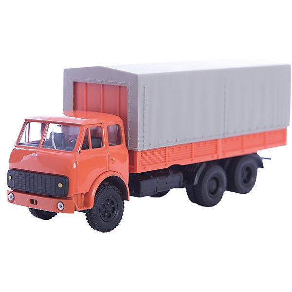Машинка MAZ-516 гражданского назначения, AutotimeМашинки<br>Характеристики товара:<br><br>• цвет: красный<br>• материал: металл, пластик<br>• длина: 20 см<br>• размер упаковки: 22х7х17 см<br>• вес: 100 г<br>• масштаб: 1:43<br>• хорошая детализация<br>• вращаются колеса<br>• коллекционная<br>• страна бренда: Россия<br>• страна производства: Китай<br><br>Коллекционная модель машины - это уменьшенная копия грузовика. Данная модель выполнена с тщательной детализацией и представлена в масштабе 1:43. Кабина грузовика окрашена в характерный цвет. <br>Машинка может выполнять сразу несколько функций: развлекать ребенка, помогать вырабатывать практические качества: ловкость, координацию, мелкую моторику. Также в процессе увлекательной игры развивается фантазия ребенка. Изделие выполнено из сертифицированных материалов, безопасных для детей. Машинка стимулирует двигательную активность ребенка, дает представление об устройстве автомобиля. Эта модель станет отличным подарком как отдельная игрушка, а также может пополнить коллекцию юного ценителя техники.<br><br>Машинку MAZ-516 гражданского назначения от бренда AUTOTIME можно купить в нашем интернет-магазине.<br>Ширина мм: 250; Глубина мм: 95; Высота мм: 110; Вес г: 25; Возраст от месяцев: 36; Возраст до месяцев: 2147483647; Пол: Мужской; Возраст: Детский; SKU: 5584004;