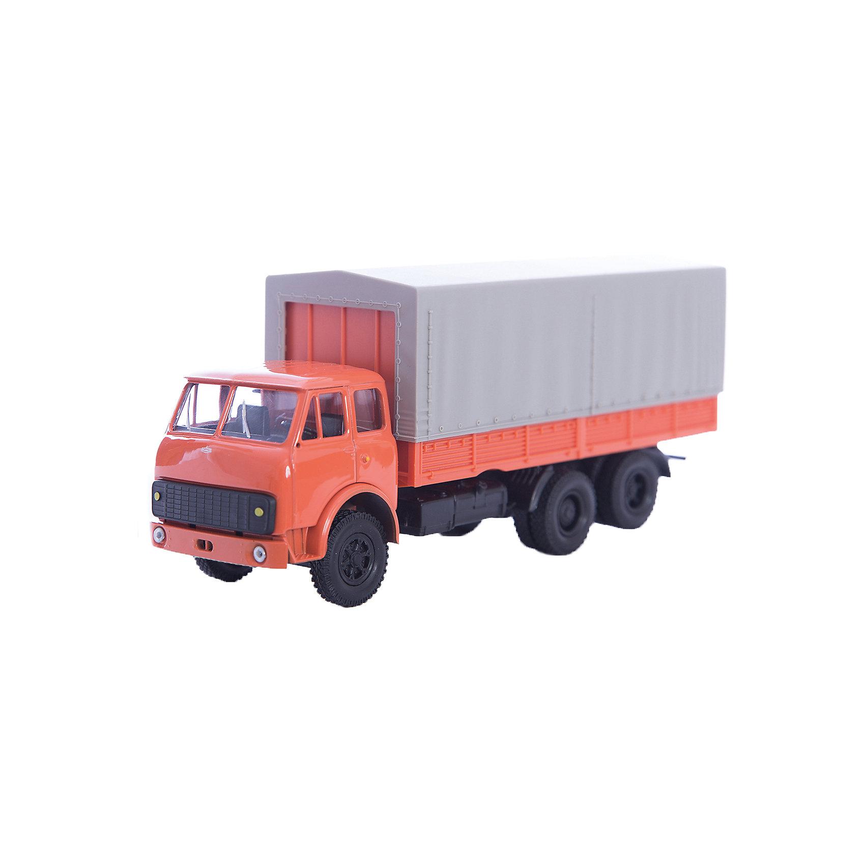 Машинка MAZ-516 гражданского назначения, AutotimeМашинки<br>Характеристики товара:<br><br>• цвет: красный<br>• материал: металл, пластик<br>• длина: 20 см<br>• размер упаковки: 22х7х17 см<br>• вес: 100 г<br>• масштаб: 1:43<br>• хорошая детализация<br>• вращаются колеса<br>• коллекционная<br>• страна бренда: Россия<br>• страна производства: Китай<br><br>Коллекционная модель машины - это уменьшенная копия грузовика. Данная модель выполнена с тщательной детализацией и представлена в масштабе 1:43. Кабина грузовика окрашена в характерный цвет. <br>Машинка может выполнять сразу несколько функций: развлекать ребенка, помогать вырабатывать практические качества: ловкость, координацию, мелкую моторику. Также в процессе увлекательной игры развивается фантазия ребенка. Изделие выполнено из сертифицированных материалов, безопасных для детей. Машинка стимулирует двигательную активность ребенка, дает представление об устройстве автомобиля. Эта модель станет отличным подарком как отдельная игрушка, а также может пополнить коллекцию юного ценителя техники.<br><br>Машинку MAZ-516 гражданского назначения от бренда AUTOTIME можно купить в нашем интернет-магазине.<br><br>Ширина мм: 250<br>Глубина мм: 95<br>Высота мм: 110<br>Вес г: 25<br>Возраст от месяцев: 36<br>Возраст до месяцев: 2147483647<br>Пол: Мужской<br>Возраст: Детский<br>SKU: 5584004