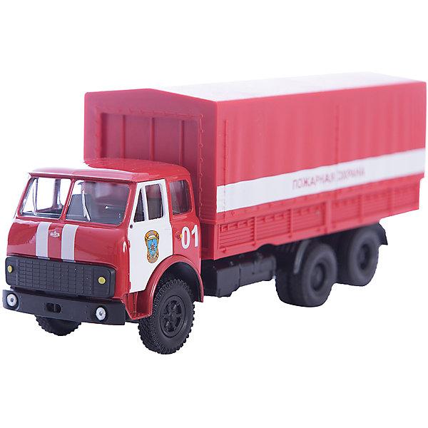 Машинка MAZ-516 пожарная охрана, AutotimeМашинки<br>Характеристики товара:<br><br>• цвет: красный<br>• материал: металл, пластик<br>• длина: 20 см<br>• размер упаковки: 22х7х17 см<br>• вес: 100 г<br>• масштаб: 1:43<br>• хорошая детализация<br>• вращаются колеса<br>• коллекционная<br>• страна бренда: Россия<br>• страна производства: Китай<br><br>Многие мальчики в детстве мечтают стать героями. Эта машинка позволит вашему ребенку представить себя на месте отважного спасателя! Коллекционная модель машины - это уменьшенная копия грузовика. Данная модель выполнена с тщательной детализацией и представлена в масштабе 1:43. Кабина грузовика окрашена в характерный цвет. <br><br>Машинка может выполнять сразу несколько функций: развлекать ребенка, помогать вырабатывать практические качества: ловкость, координацию, мелкую моторику. Также в процессе увлекательной игры развивается фантазия ребенка. Изделие выполнено из сертифицированных материалов, безопасных для детей. Машинка стимулирует двигательную активность ребенка, дает представление об устройстве автомобиля. Эта модель станет отличным подарком как отдельная игрушка, а также может пополнить коллекцию юного ценителя техники.<br><br>Машинку MAZ-516 пожарная охрана от бренда AUTOTIME можно купить в нашем интернет-магазине.<br><br>Ширина мм: 250<br>Глубина мм: 95<br>Высота мм: 110<br>Вес г: 25<br>Возраст от месяцев: 36<br>Возраст до месяцев: 2147483647<br>Пол: Мужской<br>Возраст: Детский<br>SKU: 5584005