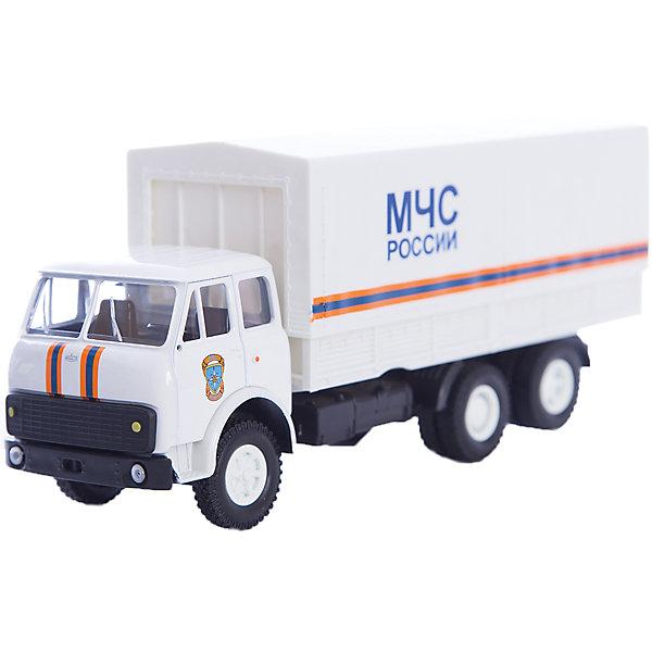 Машинка MAZ-516 МЧС, AutotimeМашинки<br>Характеристики товара:<br><br>• цвет: белый<br>• материал: металл, пластик<br>• длина: 20 см<br>• размер упаковки: 25 х 10 х 11 см<br>• вес: 100 г<br>• масштаб: 1:43<br>• хорошая детализация<br>• вращаются колеса<br>• коллекционная<br>• страна бренда: Россия<br>• страна производства: Китай<br><br>Многие мальчики в детстве мечтают стать героями. Эта машинка позволит вашему ребенку представить себя на месте отважного спасателя! Коллекционная модель машины - это уменьшенная копия грузовика. Данная модель выполнена с тщательной детализацией и представлена в масштабе 1:43. Кабина грузовика окрашена в характерный цвет. <br><br>Машинка может выполнять сразу несколько функций: развлекать ребенка, помогать вырабатывать практические качества: ловкость, координацию, мелкую моторику. Также в процессе увлекательной игры развивается фантазия ребенка. Изделие выполнено из сертифицированных материалов, безопасных для детей. Машинка стимулирует двигательную активность ребенка, дает представление об устройстве автомобиля. Эта модель станет отличным подарком как отдельная игрушка, а также может пополнить коллекцию юного ценителя техники.<br><br>Машинку MAZ-516 МЧС от бренда AUTOTIME можно купить в нашем интернет-магазине.<br><br>Ширина мм: 250<br>Глубина мм: 95<br>Высота мм: 110<br>Вес г: 25<br>Возраст от месяцев: 36<br>Возраст до месяцев: 2147483647<br>Пол: Мужской<br>Возраст: Детский<br>SKU: 5584006