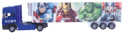 Машинка Avengers Мстители тягач с полуприцепом 1:48, Autotime