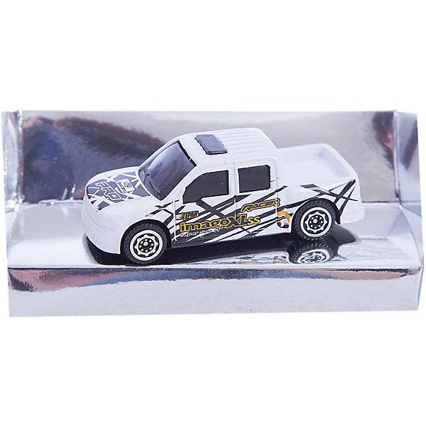 Машинка Pick-Up Double Cab дрифт 1:56, AutotimeМашинки<br>Характеристики товара:<br><br>• цвет: белый<br>• материал: металл, пластик<br>• размер упаковки: 12 x 14 x 6 см<br>• размер игрушки: 9 х 4 см<br>• вес: 100 г<br>• масштаб: 1:56<br>• хорошая детализация<br>• упаковка: коробка<br>• прочный материал<br>• страна бренда: Россия<br>• страна производства: Китай<br><br>Такая машинка приведет мальчишек в восторг! Она отлично детализирована и так похожа на настоящую. С подобной игрушкой можно придумать множество сюжетов для игр. Благодаря прочному материалу она сможет долго радовать ребенка.<br><br>Машинка может выполнять сразу несколько функций: развлекать ребенка, помогать вырабатывать практические качества: ловкость, координацию, мелкую моторику. Также в процессе увлекательной игры развивается фантазия ребенка. Изделие выполнено из сертифицированных материалов, безопасных для детей.<br><br>Машинку Pick-Up Double Cab дрифт от бренда AUTOTIME можно купить в нашем интернет-магазине.<br>Ширина мм: 165; Глубина мм: 57; Высота мм: 75; Вес г: 13; Возраст от месяцев: 36; Возраст до месяцев: 2147483647; Пол: Мужской; Возраст: Детский; SKU: 5584023;