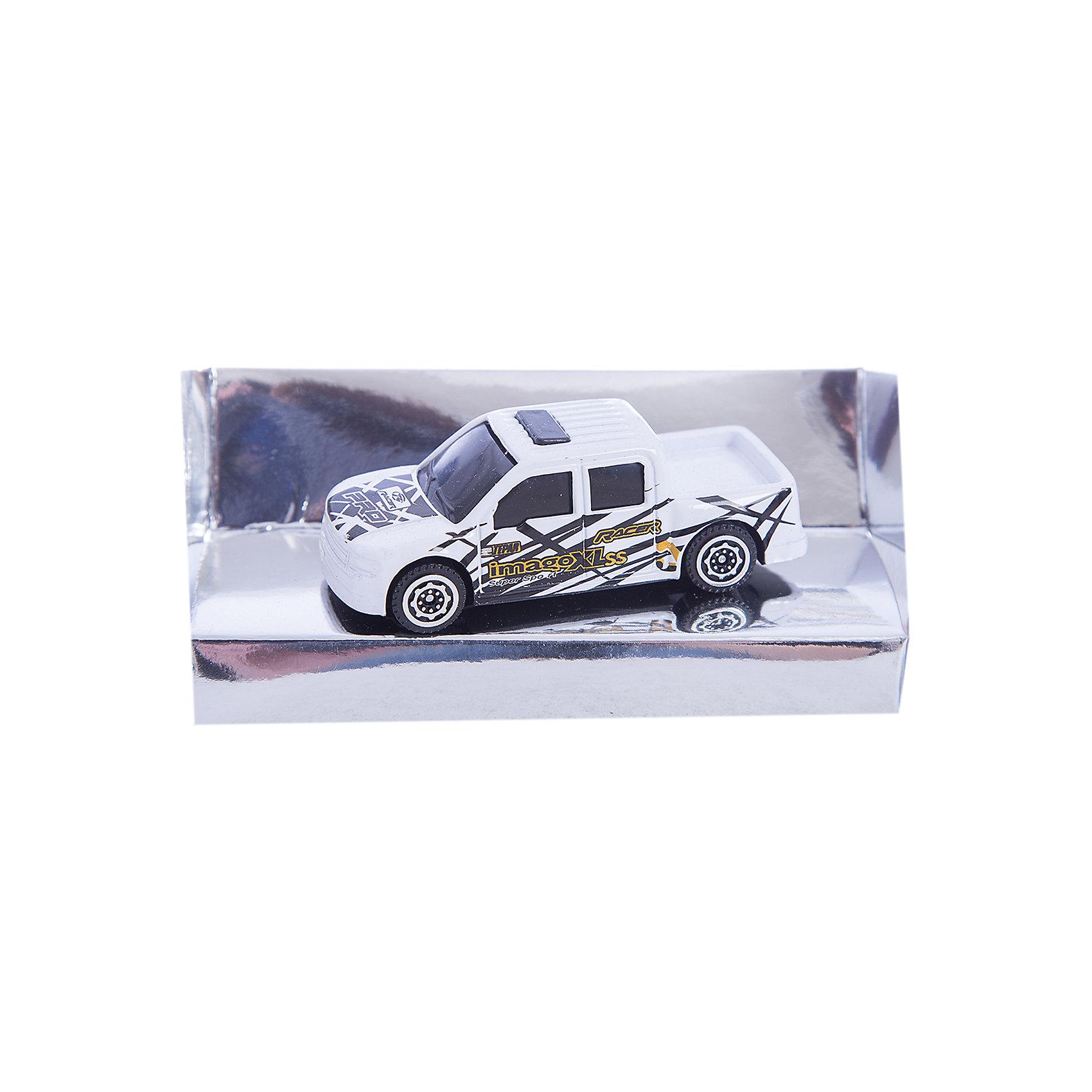 Машинка Pick-Up Double Cab дрифт 1:56, AutotimeМашинки<br>Характеристики товара:<br><br>• цвет: белый<br>• материал: металл, пластик<br>• размер упаковки: 12 x 14 x 6 см<br>• размер игрушки: 9 х 4 см<br>• вес: 100 г<br>• масштаб: 1:56<br>• хорошая детализация<br>• упаковка: коробка<br>• прочный материал<br>• страна бренда: Россия<br>• страна производства: Китай<br><br>Такая машинка приведет мальчишек в восторг! Она отлично детализирована и так похожа на настоящую. С подобной игрушкой можно придумать множество сюжетов для игр. Благодаря прочному материалу она сможет долго радовать ребенка.<br><br>Машинка может выполнять сразу несколько функций: развлекать ребенка, помогать вырабатывать практические качества: ловкость, координацию, мелкую моторику. Также в процессе увлекательной игры развивается фантазия ребенка. Изделие выполнено из сертифицированных материалов, безопасных для детей.<br><br>Машинку Pick-Up Double Cab дрифт от бренда AUTOTIME можно купить в нашем интернет-магазине.<br><br>Ширина мм: 165<br>Глубина мм: 57<br>Высота мм: 75<br>Вес г: 13<br>Возраст от месяцев: 36<br>Возраст до месяцев: 2147483647<br>Пол: Мужской<br>Возраст: Детский<br>SKU: 5584023