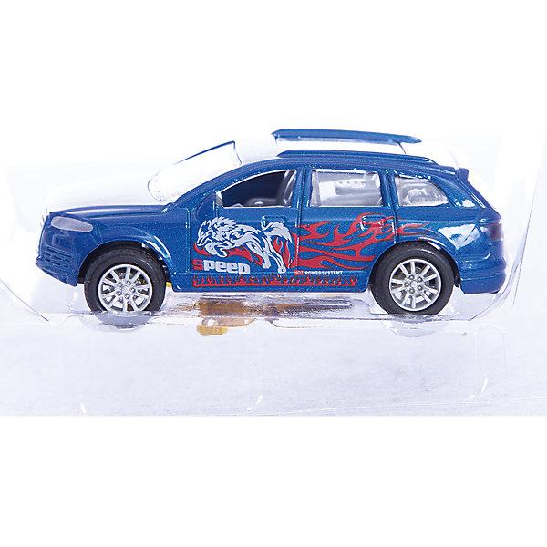 Машинка Offroader Sport Ночной волк 1:48, AutotimeМашинки<br>Характеристики товара:<br><br>• цвет: синий<br>• материал: металл, пластик<br>• размер упаковки: 12.5 x 7 x 5.5 см<br>• яркие рисунки<br>• вес: 100 г<br>• масштаб: 1:48<br>• хорошая детализация<br>• упаковка: коробка<br>• прочный материал<br>• страна бренда: Россия<br>• страна производства: Китай<br><br>Такая машинка приведет мальчишек в восторг! Она отлично детализирована и так похожа на настоящую. С подобной игрушкой можно придумать множество сюжетов для игр. Благодаря прочному материалу она сможет долго радовать ребенка.<br><br>Машинка может выполнять сразу несколько функций: развлекать ребенка, помогать вырабатывать практические качества: ловкость, координацию, мелкую моторику. Также в процессе увлекательной игры развивается фантазия ребенка. Изделие выполнено из сертифицированных материалов, безопасных для детей.<br><br>Машинку Offroader Sport Ночной волк от бренда AUTOTIME можно купить в нашем интернет-магазине.<br><br>Ширина мм: 165<br>Глубина мм: 57<br>Высота мм: 75<br>Вес г: 13<br>Возраст от месяцев: 36<br>Возраст до месяцев: 2147483647<br>Пол: Мужской<br>Возраст: Детский<br>SKU: 5584025