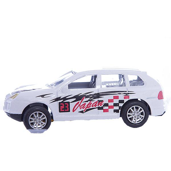 Машинка Offroader Extrem ралли 1:48, AutotimeМашинки<br>Характеристики товара:<br><br>• цвет: белый<br>• материал: металл, пластик<br>• размер упаковки: 12.5 x 7 x 5.5 см<br>• яркие рисунки<br>• вес: 100 г<br>• масштаб: 1:48<br>• хорошая детализация<br>• упаковка: коробка<br>• прочный материал<br>• страна бренда: Россия<br>• страна производства: Китай<br><br>Такая машинка приведет мальчишек в восторг! Она отлично детализирована и так похожа на настоящую. С подобной игрушкой можно придумать множество сюжетов для игр. Благодаря прочному материалу она сможет долго радовать ребенка.<br><br>Машинка может выполнять сразу несколько функций: развлекать ребенка, помогать вырабатывать практические качества: ловкость, координацию, мелкую моторику. Также в процессе увлекательной игры развивается фантазия ребенка. Изделие выполнено из сертифицированных материалов, безопасных для детей.<br><br>Машинку Offroader Extrem ралли от бренда AUTOTIME можно купить в нашем интернет-магазине.<br><br>Ширина мм: 165<br>Глубина мм: 57<br>Высота мм: 75<br>Вес г: 13<br>Возраст от месяцев: 36<br>Возраст до месяцев: 2147483647<br>Пол: Мужской<br>Возраст: Детский<br>SKU: 5584026