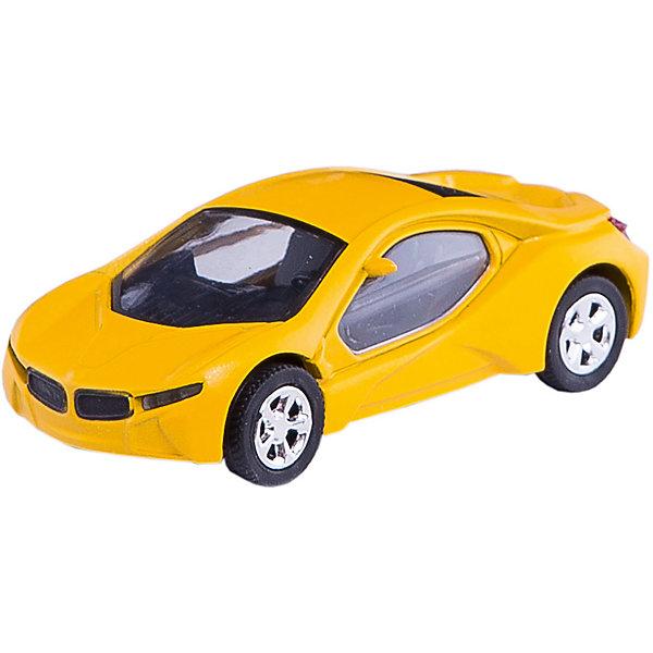 Машинка Bavaria Concept Car со светом фар 1:43, AutotimeМашинки<br>Характеристики товара:<br><br>• цвет: черный<br>• материал: металл, пластик<br>• размер упаковки: 15х6х7 см<br>• батарейки входят в комплект<br>• вес: 100 г<br>• масштаб: 1:48<br>• световые эффекты<br>• инерционный механизм<br>• хорошая детализация<br>• упаковка: коробка<br>• прочный материал<br>• страна бренда: Россия<br>• страна производства: Китай<br><br>Такая машинка приведет мальчишек в восторг! Она отлично детализирована и так похожа на настоящую. С подобной игрушкой можно придумать множество сюжетов для игр. Благодаря прочному материалу она сможет долго радовать ребенка.<br><br>Машинка может выполнять сразу несколько функций: развлекать ребенка, помогать вырабатывать практические качества: ловкость, координацию, мелкую моторику. Также в процессе увлекательной игры развивается фантазия ребенка. Изделие выполнено из сертифицированных материалов, безопасных для детей.<br><br>Машинку Bavaria Concept Car со светом фар 1:43 от бренда AUTOTIME можно купить в нашем интернет-магазине.<br>Ширина мм: 165; Глубина мм: 57; Высота мм: 75; Вес г: 13; Возраст от месяцев: 36; Возраст до месяцев: 2147483647; Пол: Мужской; Возраст: Детский; SKU: 5584029;