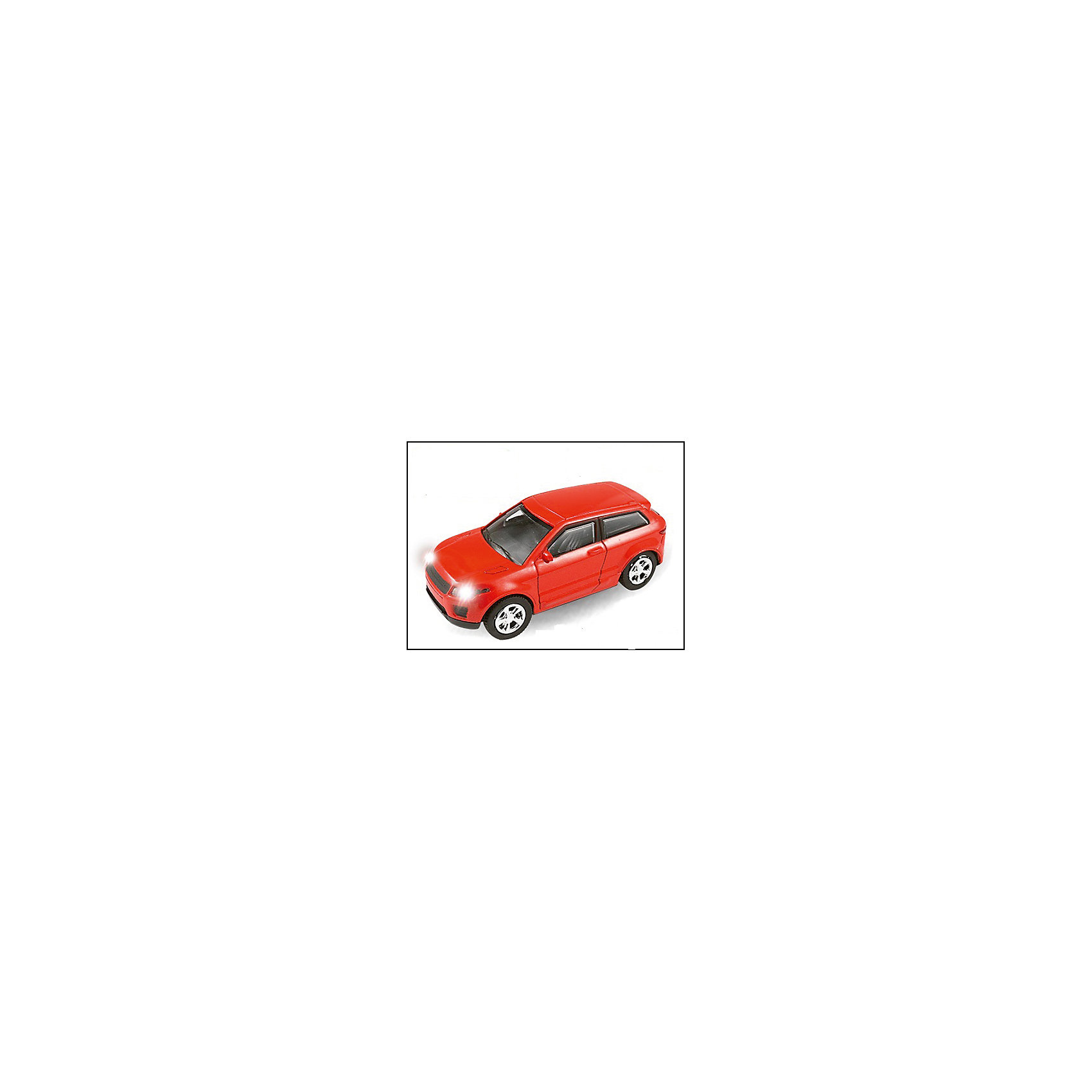 Машинка England Luxury Crossover со светом фар 1:43, AutotimeМашинки<br>Характеристики товара:<br><br>• цвет: красный<br>• материал: металл, пластик<br>• размер упаковки: 15х6х7 см<br>• батарейки входят в комплект<br>• вес: 100 г<br>• масштаб: 1:48<br>• световые эффекты<br>• инерционный механизм<br>• хорошая детализация<br>• упаковка: коробка<br>• прочный материал<br>• страна бренда: Россия<br>• страна производства: Китай<br><br>Такая машинка приведет мальчишек в восторг! Она отлично детализирована и так похожа на настоящую. С подобной игрушкой можно придумать множество сюжетов для игр. Благодаря прочному материалу она сможет долго радовать ребенка.<br><br>Машинка может выполнять сразу несколько функций: развлекать ребенка, помогать вырабатывать практические качества: ловкость, координацию, мелкую моторику. Также в процессе увлекательной игры развивается фантазия ребенка. Изделие выполнено из сертифицированных материалов, безопасных для детей.<br><br>Машинку England Luxury Crossover со светом фар 1:43 от бренда AUTOTIME можно купить в нашем интернет-магазине.<br><br>Ширина мм: 165<br>Глубина мм: 57<br>Высота мм: 75<br>Вес г: 13<br>Возраст от месяцев: 36<br>Возраст до месяцев: 2147483647<br>Пол: Мужской<br>Возраст: Детский<br>SKU: 5584031