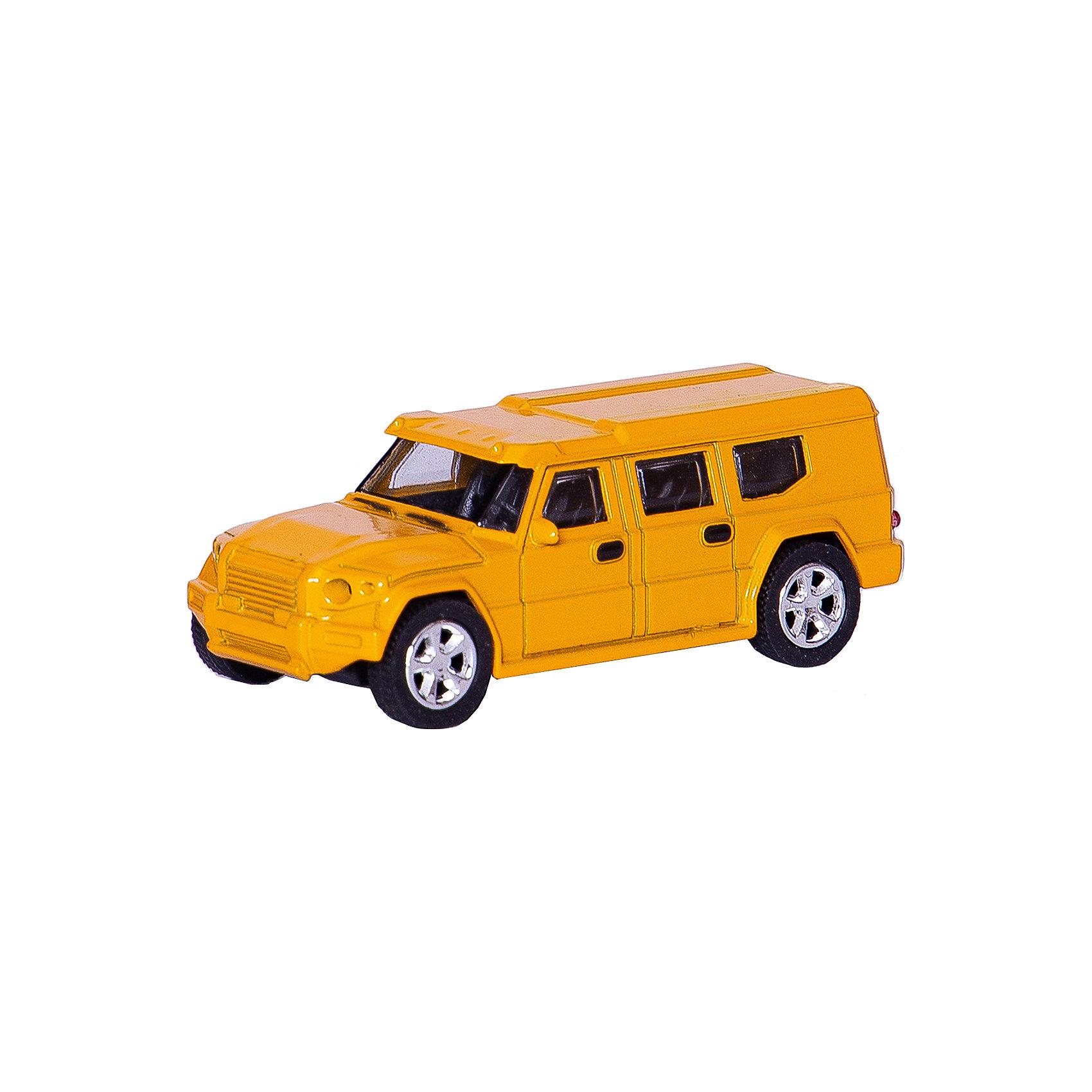 Машинка European Armored Car со светом фар 1:43, AutotimeМашинки<br>Характеристики товара:<br><br>• цвет: желтый<br>• материал: металл, пластик<br>• размер упаковки: 15х6х7 см<br>• батарейки входят в комплект<br>• вес: 100 г<br>• масштаб: 1:48<br>• световые эффекты<br>• инерционный механизм<br>• хорошая детализация<br>• упаковка: коробка<br>• прочный материал<br>• страна бренда: Россия<br>• страна производства: Китай<br><br>Такая машинка приведет мальчишек в восторг! Она отлично детализирована и так похожа на настоящую. С подобной игрушкой можно придумать множество сюжетов для игр. Благодаря прочному материалу она сможет долго радовать ребенка.<br><br>Машинка может выполнять сразу несколько функций: развлекать ребенка, помогать вырабатывать практические качества: ловкость, координацию, мелкую моторику. Также в процессе увлекательной игры развивается фантазия ребенка. Изделие выполнено из сертифицированных материалов, безопасных для детей.<br><br>Машинку European Armored Car со светом фар 1:43 от бренда AUTOTIME можно купить в нашем интернет-магазине.<br><br>Ширина мм: 165<br>Глубина мм: 57<br>Высота мм: 75<br>Вес г: 13<br>Возраст от месяцев: 36<br>Возраст до месяцев: 2147483647<br>Пол: Мужской<br>Возраст: Детский<br>SKU: 5584032
