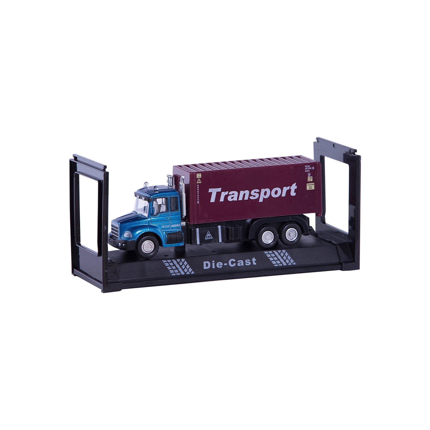 Машинка Transport Truck контейнеровоз 1:48, AutotimeМашинки<br><br><br>Ширина мм: 165<br>Глубина мм: 57<br>Высота мм: 75<br>Вес г: 13<br>Возраст от месяцев: 36<br>Возраст до месяцев: 2147483647<br>Пол: Мужской<br>Возраст: Детский<br>SKU: 5584045