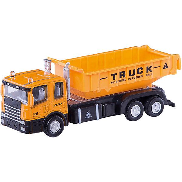 Машинка Construction Truck строительный самосвал 1:48, AutotimeМашинки<br>Характеристики товара:<br><br>• цвет: желтый<br>• возраст: от 3 лет<br>• материал: металл, пластик<br>• масштаб: 1:48<br>• колеса вращаются<br>• размер упаковки: 16х6х7 см<br>• вес с упаковкой: 100 г<br>• страна бренда: Россия, Китай<br>• страна изготовитель: Китай<br><br>Эта отлично детализированная машинка является коллекционной моделью. Окна - прозрачные, поэтому через них можно увидеть салон.<br><br>Сделана машинка из прочного и безопасного материала. Модель с большим открытым кузовом.<br><br>Машинку «Construction Truck» строительный самосвал 1:48, Autotime (Автотайм) можно купить в нашем интернет-магазине.<br><br>Ширина мм: 165<br>Глубина мм: 57<br>Высота мм: 75<br>Вес г: 13<br>Возраст от месяцев: 36<br>Возраст до месяцев: 2147483647<br>Пол: Мужской<br>Возраст: Детский<br>SKU: 5584046