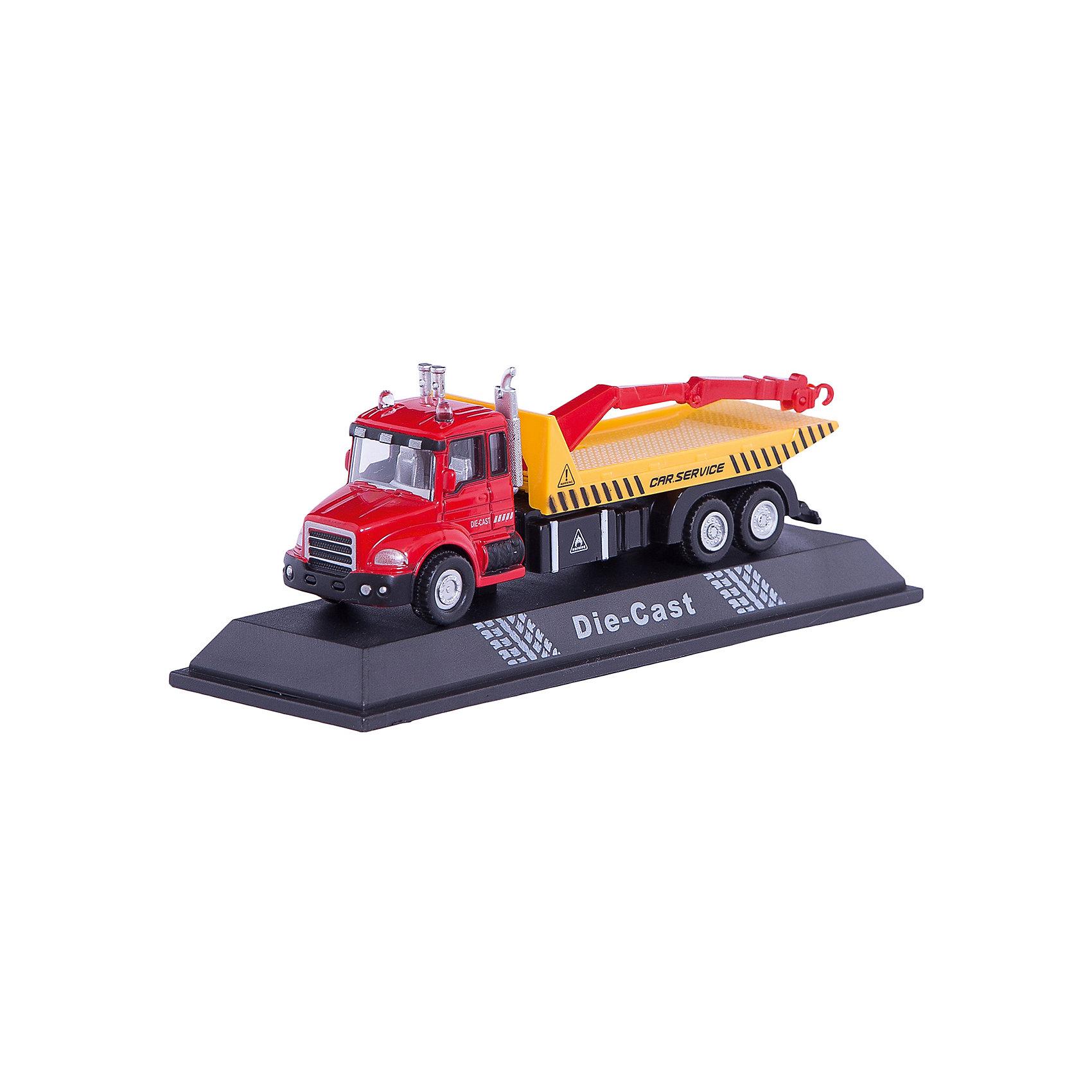 Машинка Tow Truck эвакуатор 1:48, AutotimeМашинки<br>Характеристики товара:<br><br>• цвет: красный<br>• возраст: от 3 лет<br>• материал: металл, пластик<br>• масштаб: 1:48<br>• колеса вращаются<br>• размер упаковки: 16х6х7 см<br>• вес с упаковкой: 100 г<br>• страна бренда: Россия, Китай<br>• страна изготовитель: Китай<br><br>Эта коллекционная модель машинки отличается высокой детализацией. Окна - прозрачные, поэтому через них можно увидеть салон.<br><br>Сделана машинка из прочного и безопасного материала. Модель с эвакуатором и платформой.<br><br>Машинку «Tow Truck» эвакуатор 1:48, Autotime (Автотайм) можно купить в нашем интернет-магазине.<br><br>Ширина мм: 165<br>Глубина мм: 57<br>Высота мм: 75<br>Вес г: 13<br>Возраст от месяцев: 36<br>Возраст до месяцев: 2147483647<br>Пол: Мужской<br>Возраст: Детский<br>SKU: 5584049