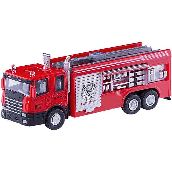 Машинка Fire Truck пожарная 1:48, AutotimeМашинки<br>Характеристики товара:<br><br>• цвет: красный<br>• возраст: от 3 лет<br>• материал: металл, пластик<br>• масштаб: 1:48<br>• колеса вращаются<br>• размер упаковки: 16х6х7 см<br>• вес с упаковкой: 100 г<br>• страна бренда: Россия, Китай<br>• страна изготовитель: Китай<br><br>Эта коллекционная модель машинки отличается высокой детализацией. Окна - прозрачные, поэтому через них можно увидеть салон.<br><br>Сделана машинка из прочного и безопасного материала. Модель с вращающимися колесами.<br><br>Машинку «Fire Truck» пожарная 1:48, Autotime (Автотайм) можно купить в нашем интернет-магазине.<br>Ширина мм: 165; Глубина мм: 57; Высота мм: 75; Вес г: 13; Возраст от месяцев: 36; Возраст до месяцев: 2147483647; Пол: Мужской; Возраст: Детский; SKU: 5584051;
