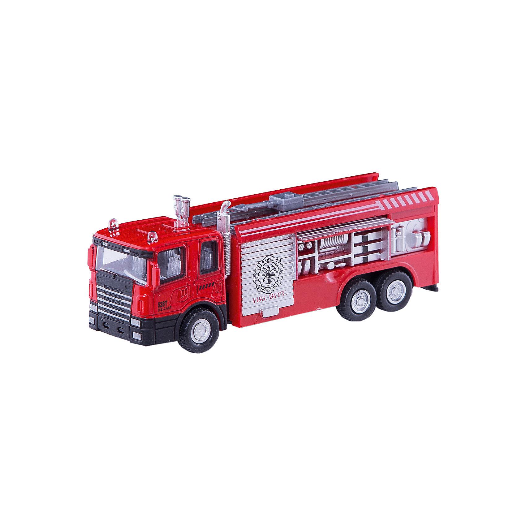 Машинка Fire Truck пожарная 1:48, AutotimeМашинки<br>Характеристики товара:<br><br>• цвет: красный<br>• возраст: от 3 лет<br>• материал: металл, пластик<br>• масштаб: 1:48<br>• колеса вращаются<br>• размер упаковки: 16х6х7 см<br>• вес с упаковкой: 100 г<br>• страна бренда: Россия, Китай<br>• страна изготовитель: Китай<br><br>Эта коллекционная модель машинки отличается высокой детализацией. Окна - прозрачные, поэтому через них можно увидеть салон.<br><br>Сделана машинка из прочного и безопасного материала. Модель с вращающимися колесами.<br><br>Машинку «Fire Truck» пожарная 1:48, Autotime (Автотайм) можно купить в нашем интернет-магазине.<br><br>Ширина мм: 165<br>Глубина мм: 57<br>Высота мм: 75<br>Вес г: 13<br>Возраст от месяцев: 36<br>Возраст до месяцев: 2147483647<br>Пол: Мужской<br>Возраст: Детский<br>SKU: 5584051