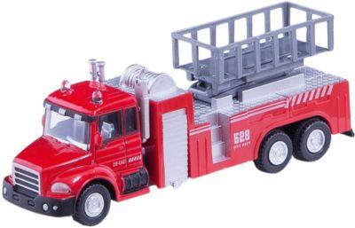 Машинка Lift Fire Truck пожарная, с подъемником 1:48, Autotime