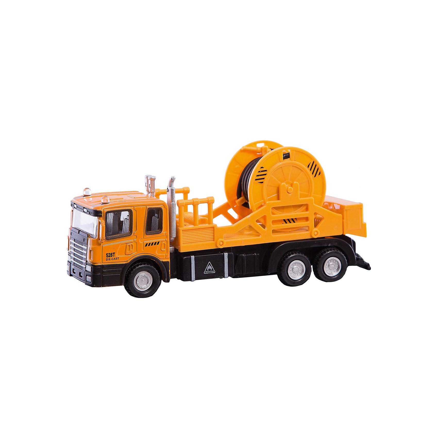 Машинка Mechanic Truck с катушкой 1:48, AutotimeМашинки<br>Характеристики товара:<br><br>• цвет: красный<br>• возраст: от 3 лет<br>• материал: металл, пластик<br>• масштаб: 1:48<br>• колеса вращаются<br>• размер упаковки: 16х6х7 см<br>• вес с упаковкой: 100 г<br>• страна бренда: Россия, Китай<br>• страна изготовитель: Китай<br><br>Эта коллекционная модель машинки отличается высокой детализацией. Окна - прозрачные, поэтому через них можно увидеть салон.<br><br>Сделана машинка из прочного и безопасного материала. Модель с катушкой.<br><br>Машинку «Mechanic Truck» с катушкой 1:48, Autotime (Автотайм) можно купить в нашем интернет-магазине.<br><br>Ширина мм: 165<br>Глубина мм: 57<br>Высота мм: 75<br>Вес г: 13<br>Возраст от месяцев: 36<br>Возраст до месяцев: 2147483647<br>Пол: Мужской<br>Возраст: Детский<br>SKU: 5584053