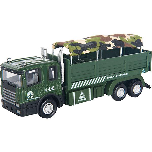 Машинка Military Autotruck для перевозки солдат 1:48, AutotimeВоенный транспорт<br>Характеристики товара:<br><br>• цвет: зеленый<br>• возраст: от 3 лет<br>• материал: металл, пластик<br>• масштаб: 1:48<br>• колеса вращаются<br>• размер упаковки: 16х6х7 см<br>• вес с упаковкой: 100 г<br>• страна бренда: Россия, Китай<br>• страна изготовитель: Китай<br><br>Эта коллекционная модель машинки отличается высокой детализацией. Окна - прозрачные, поэтому через них можно увидеть салон.<br><br>Сделана машинка из прочного и безопасного материала. Модель с кузовом.<br><br>Машинку «Military Autotruck» для перевозки солдат 1:48, Autotime (Автотайм) можно купить в нашем интернет-магазине.<br><br>Ширина мм: 165<br>Глубина мм: 57<br>Высота мм: 75<br>Вес г: 13<br>Возраст от месяцев: 36<br>Возраст до месяцев: 2147483647<br>Пол: Мужской<br>Возраст: Детский<br>SKU: 5584055