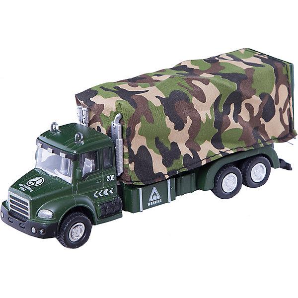 Машинка Military Truck с тентом 1:48, AutotimeМашинки<br>Характеристики товара:<br><br>• цвет: зеленый<br>• возраст: от 3 лет<br>• материал: металл, пластик<br>• масштаб: 1:48<br>• колеса вращаются<br>• размер упаковки: 16х6х7 см<br>• вес с упаковкой: 100 г<br>• страна бренда: Россия, Китай<br>• страна изготовитель: Китай<br><br>Эта коллекционная модель машинки отличается высокой детализацией. Окна - прозрачные, поэтому через них можно увидеть салон.<br><br>Сделана машинка из прочного и безопасного материала. Модель с кузовом.<br><br>Машинку «Military Truck» с тентом 1:48, Autotime (Автотайм) можно купить в нашем интернет-магазине.<br>Ширина мм: 165; Глубина мм: 57; Высота мм: 75; Вес г: 13; Возраст от месяцев: 36; Возраст до месяцев: 2147483647; Пол: Мужской; Возраст: Детский; SKU: 5584056;