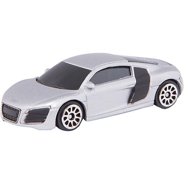 Машинка Audi R8 V10 Jeans 3, AutotimeМашинки<br>Характеристики товара:<br><br>• цвет: в ассортименте<br>• возраст: от 3 лет<br>• материал: металл, пластик<br>• масштаб: 1:64<br>• колеса вращаются<br>• размер упаковки: 9х4х4 см<br>• вес с упаковкой: 100 г<br>• страна бренда: Россия, Китай<br>• страна изготовитель: Китай<br><br>Эта коллекционная машинка отличается высокой детализацией. Это - миниатюрная копия реально существующей модели.<br><br>Сделана машинка из прочного и безопасного материала. Модель с вращающимися колесами.<br><br>Машинку «Audi R8 V10» Jeans 3, Autotime (Автотайм) можно купить в нашем интернет-магазине.<br>Ширина мм: 90; Глубина мм: 42; Высота мм: 40; Вес г: 14; Возраст от месяцев: 36; Возраст до месяцев: 2147483647; Пол: Мужской; Возраст: Детский; SKU: 5584060;